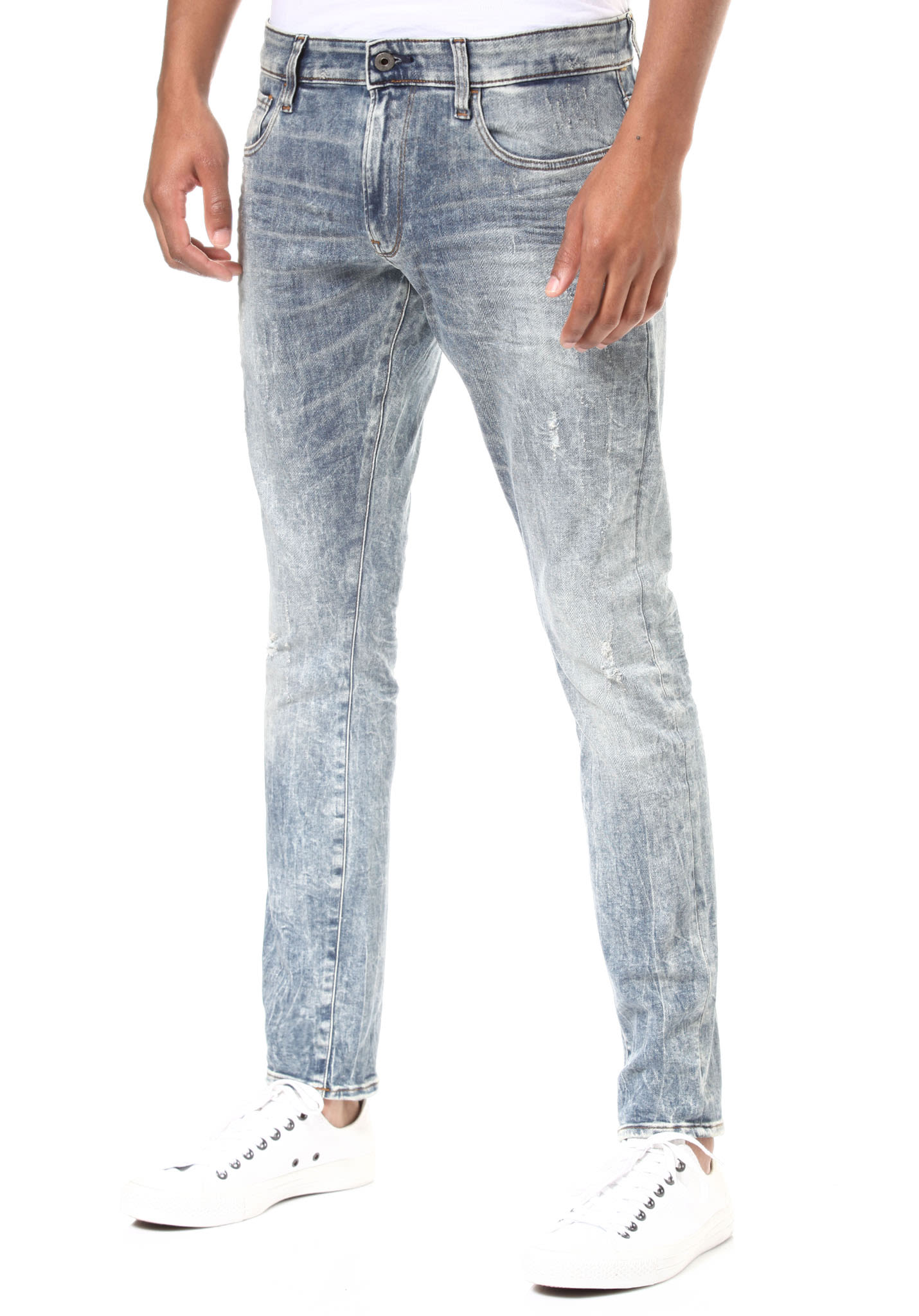 7fe3b518785ece G-STAR 3301 Deconstructed Skinny-Lor Superstretch - Denim Jeans for Men -  Blue - Planet Sports