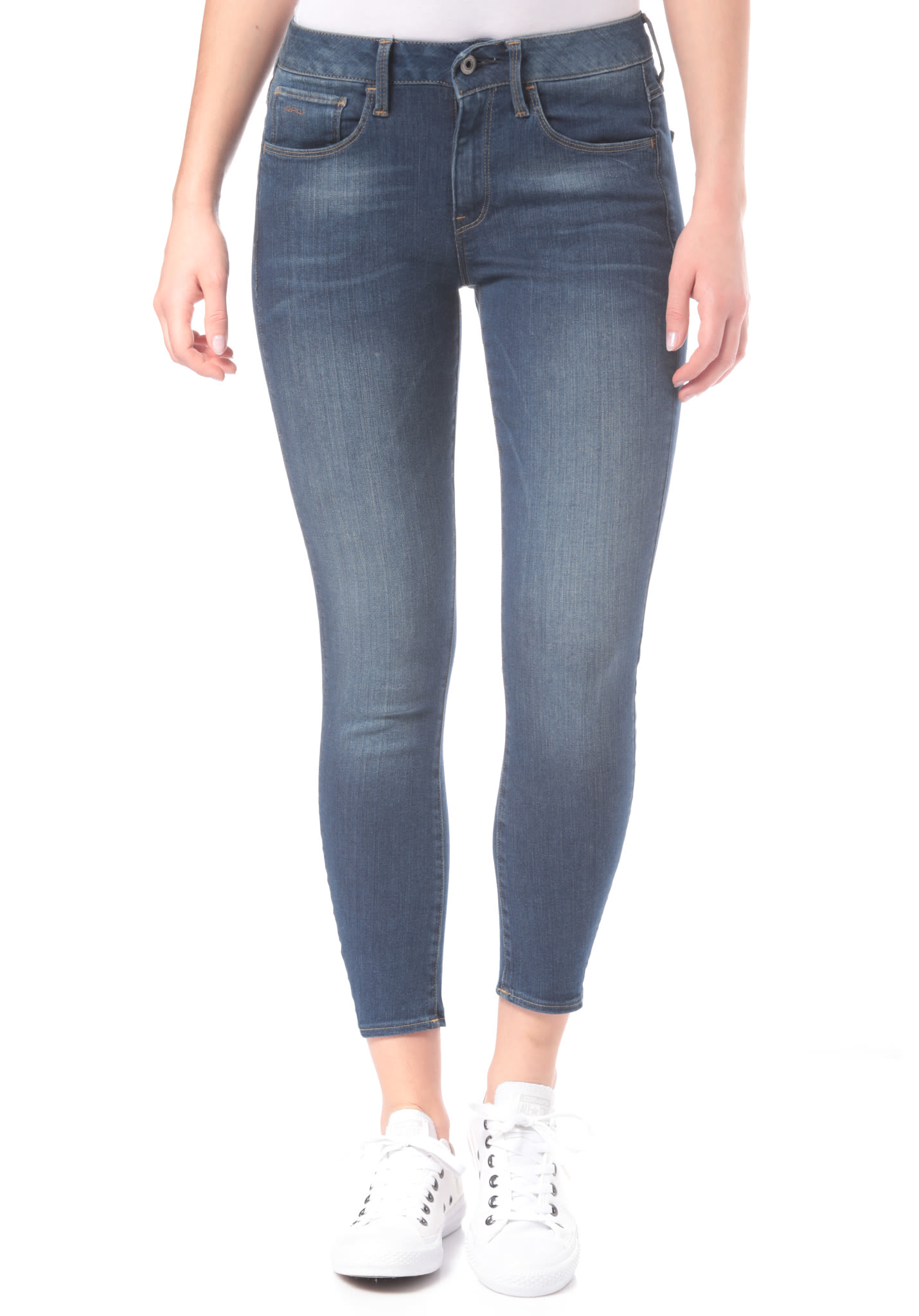 G STAR 3301 D Mid Skinny AnkleMaure Superstretch Jean pour Femme Bleu