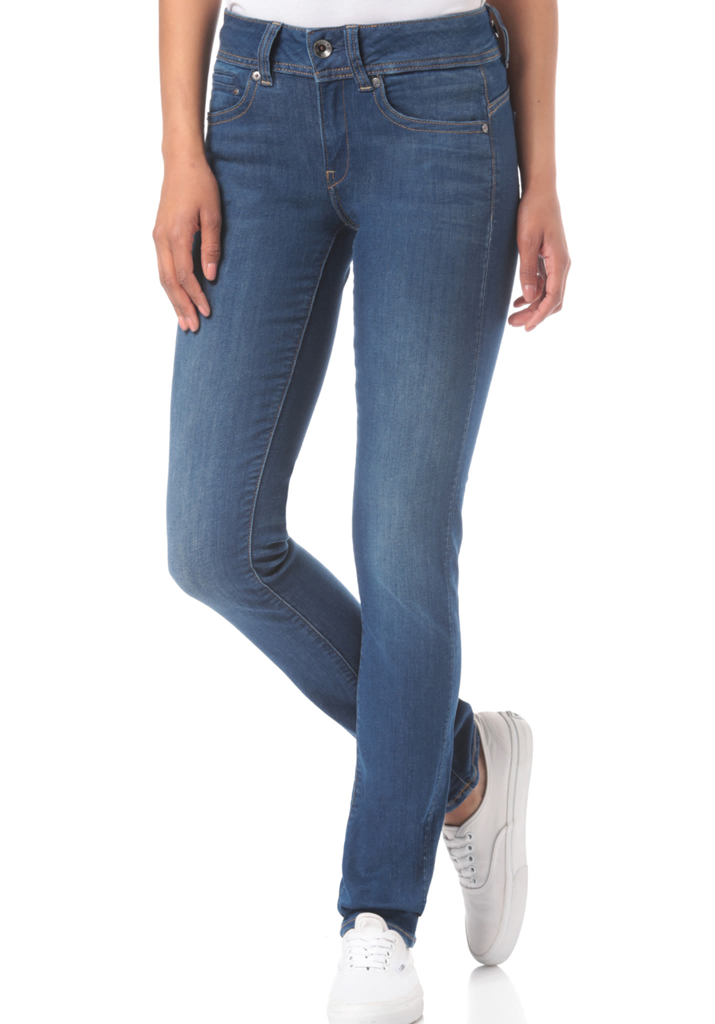 44475786547 G-STAR Midge Saddle Mid Straight/Ment Superstretch - Denim Jeans for Women  - Blue - Planet Sports
