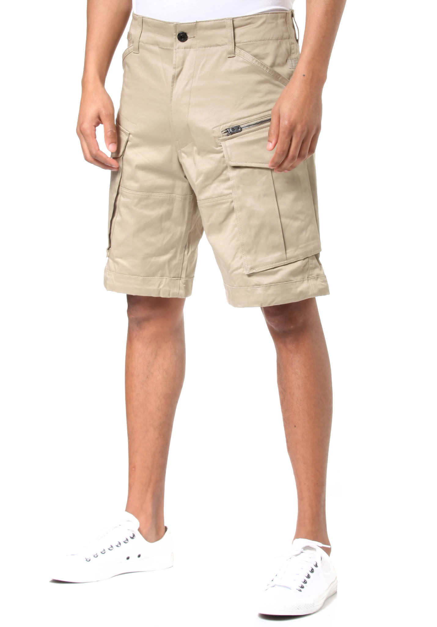 G STAR Rovic Zip Relaxed Short cargo pour Homme Beige