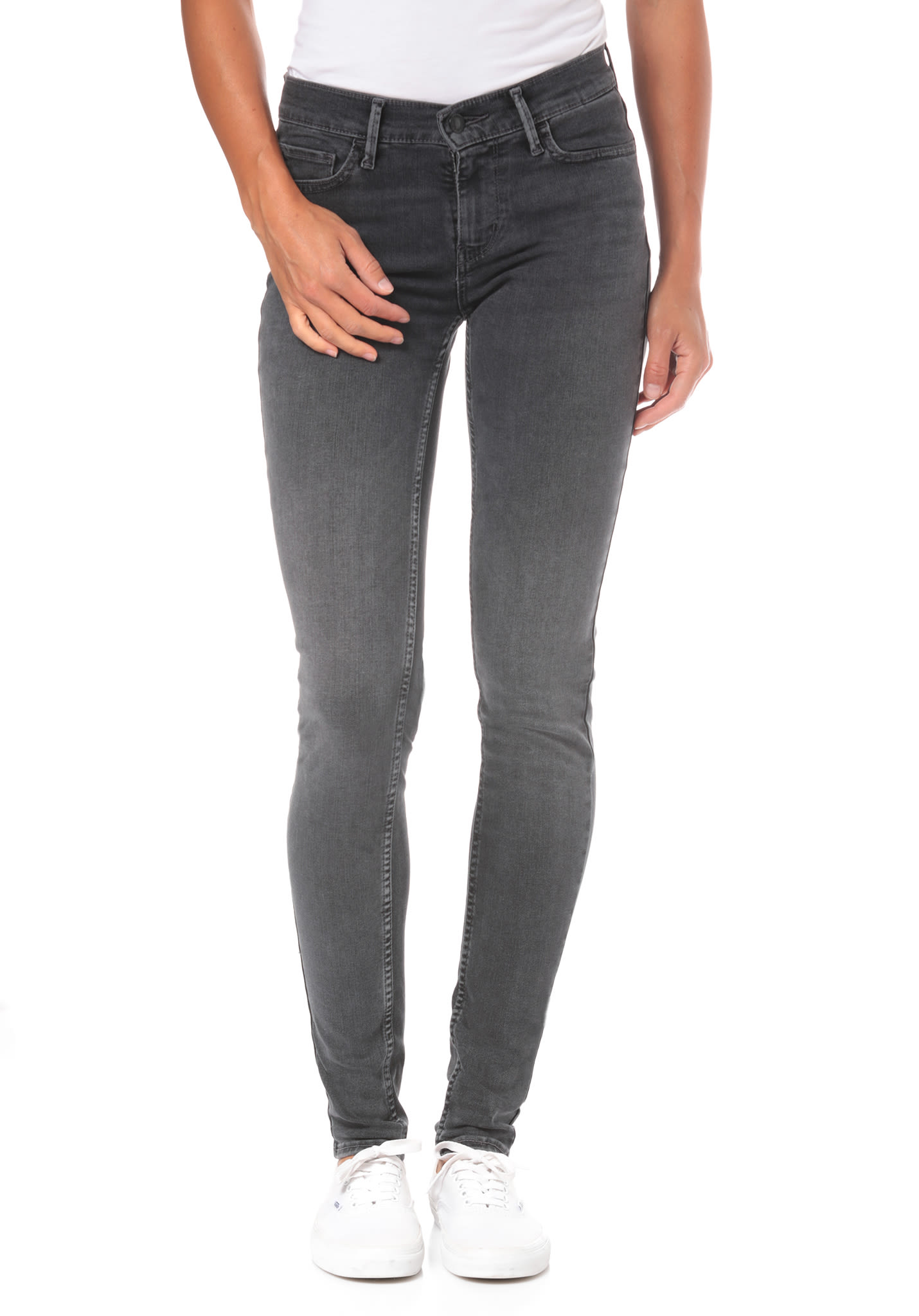 ca73de664c478 Levi's Innovation Super Skinny 710 - Jean pour Femme - Gris - Planet Sports