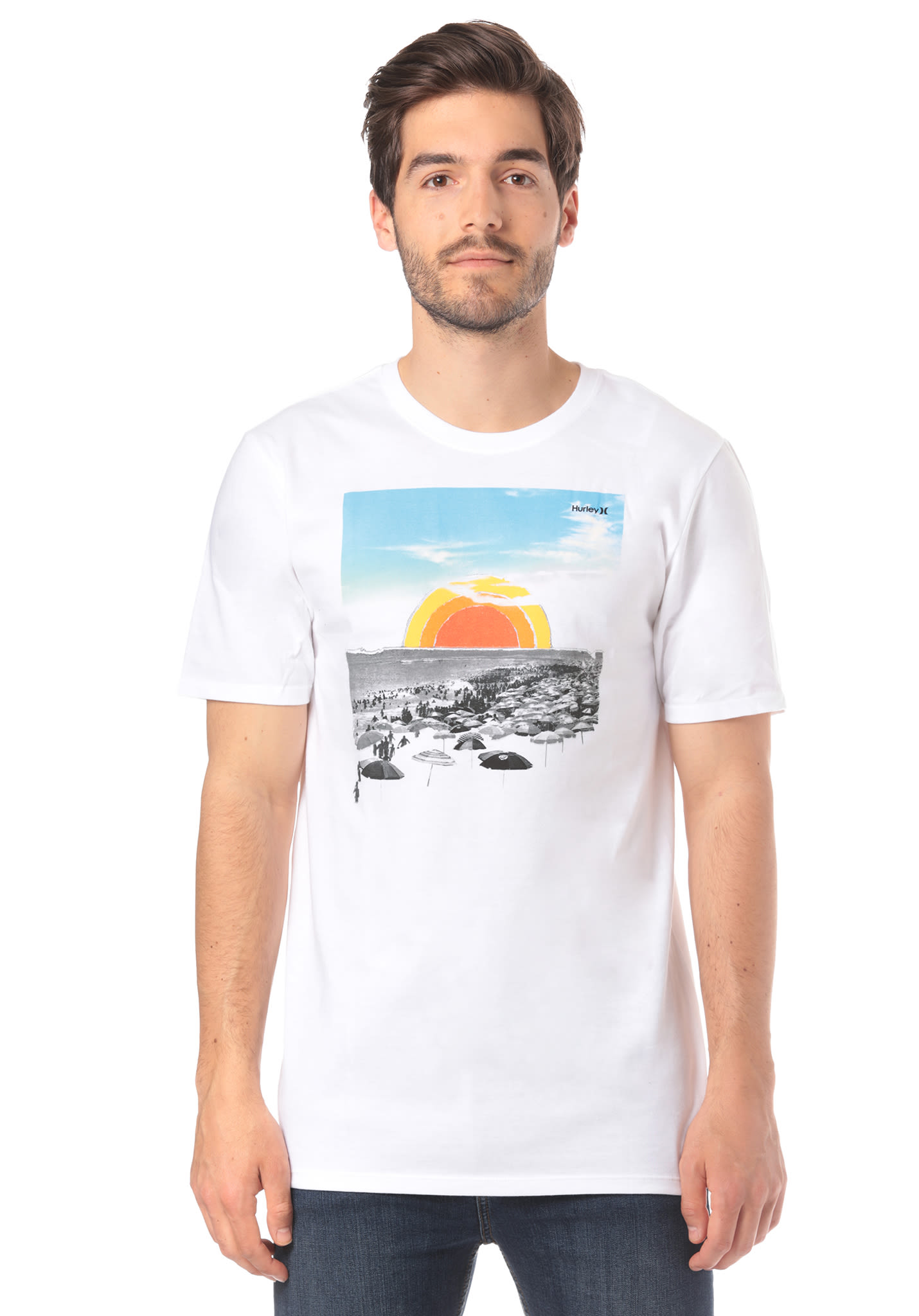 Hurley Now T Shirt For Men White Planet Sports