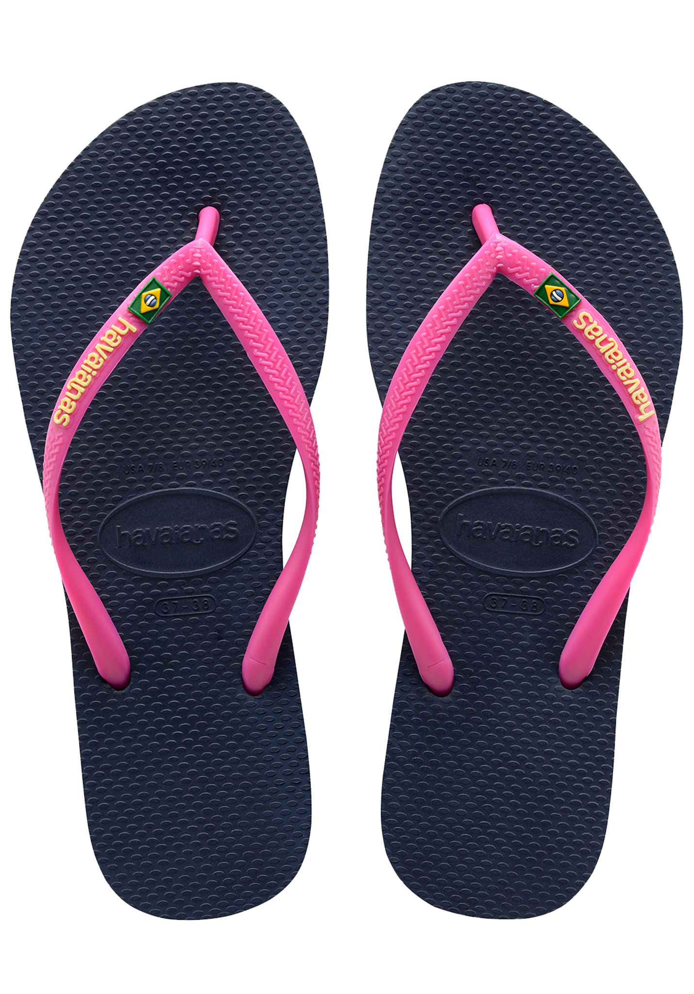 04a1c060a5453 HAVAIANAS Slim Brasil Logo - Sandals for Women - Blue - Planet Sports