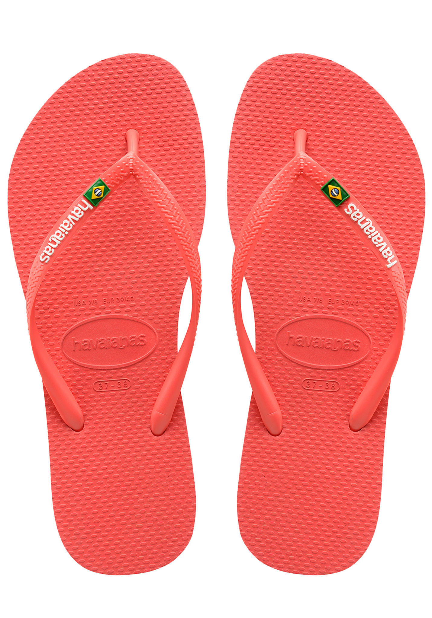 4036168c10943 HAVAIANAS Slim Brasil Logo - Sandals for Women - Red - Planet Sports