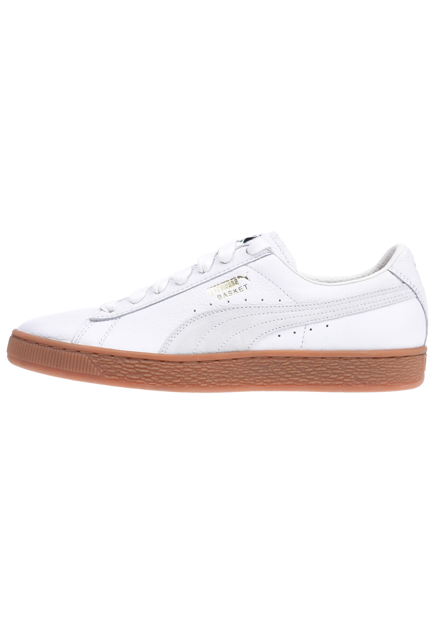 bbe416b76a5 Puma Basket Classic Gum Deluxe - Sneakers voor Heren - Wit - Planet Sports