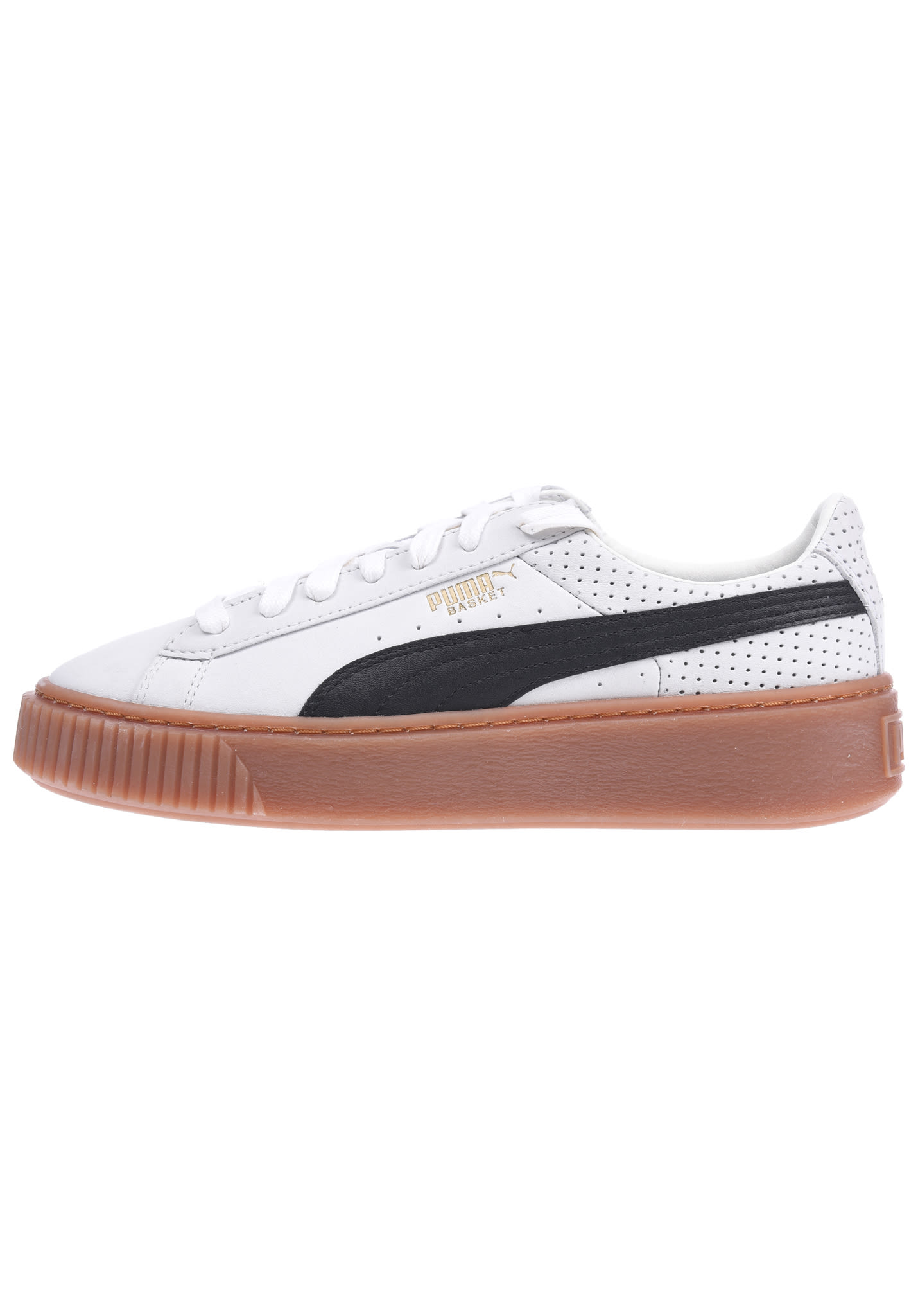 49050b5c64 Puma Basket Platform Perf Gum - Sneakers for Women - Beige - Planet Sports
