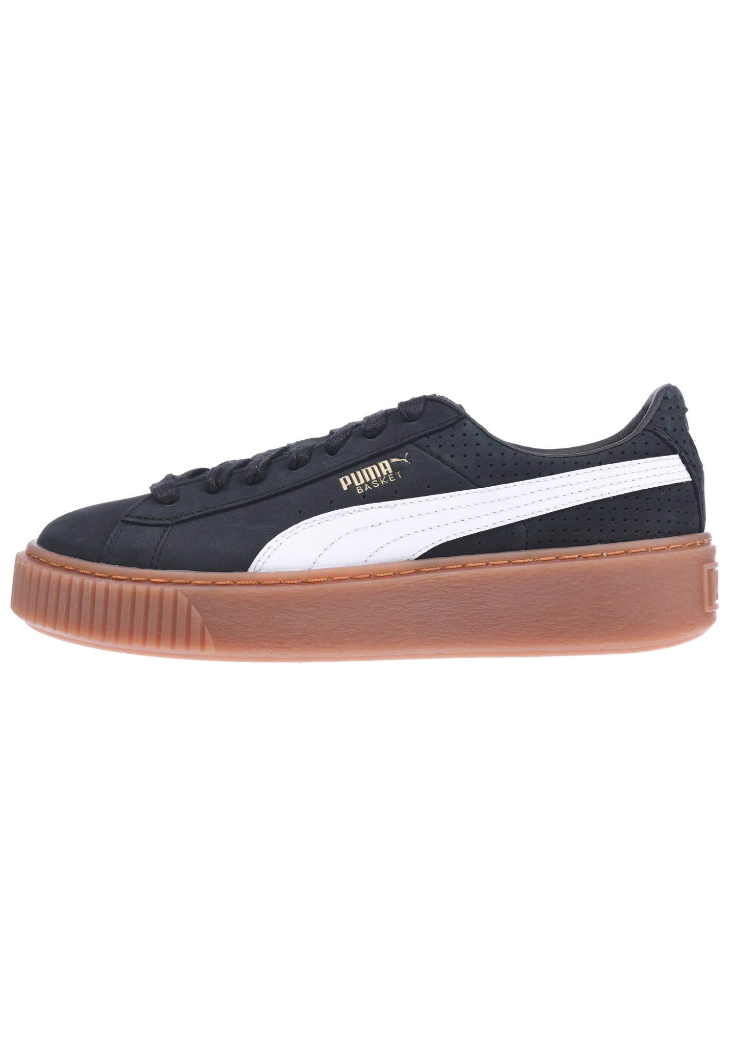 85a2167e85 Puma Basket Platform Perf Gum - Sneakers for Women - Black - Planet Sports
