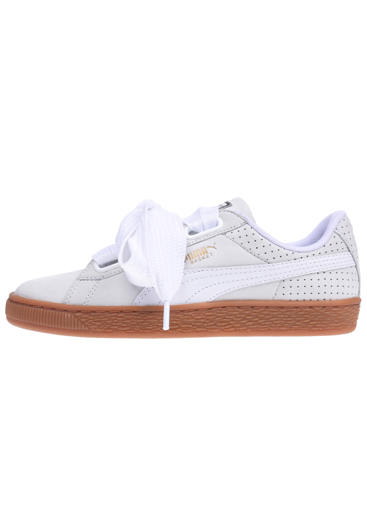 Puma Basket Heart Perf Gum - Sneakers for Women - White - Planet Sports 520adc229