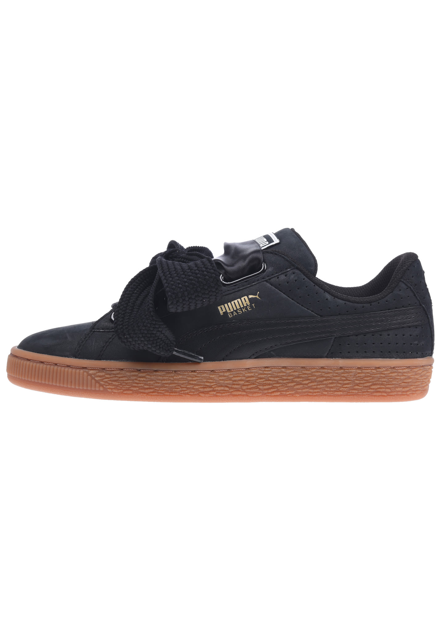 cheaper 10aa2 d5b4e Puma Basket Heart Perf Gum - Sneakers for Women - Black