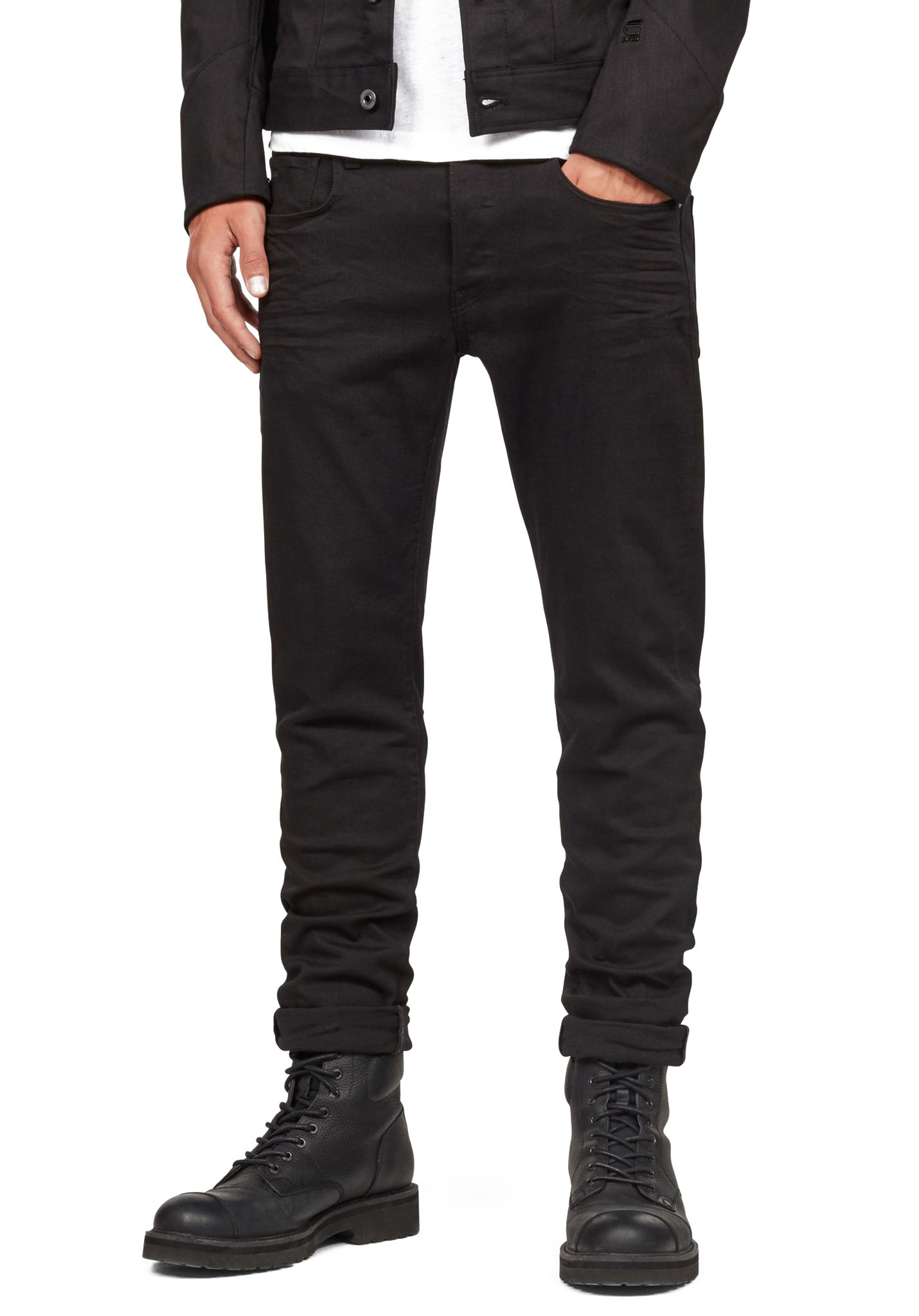 99c42cc4b09076 G-STAR 3301 Slim - Denim Jeans for Men - Black - Planet Sports