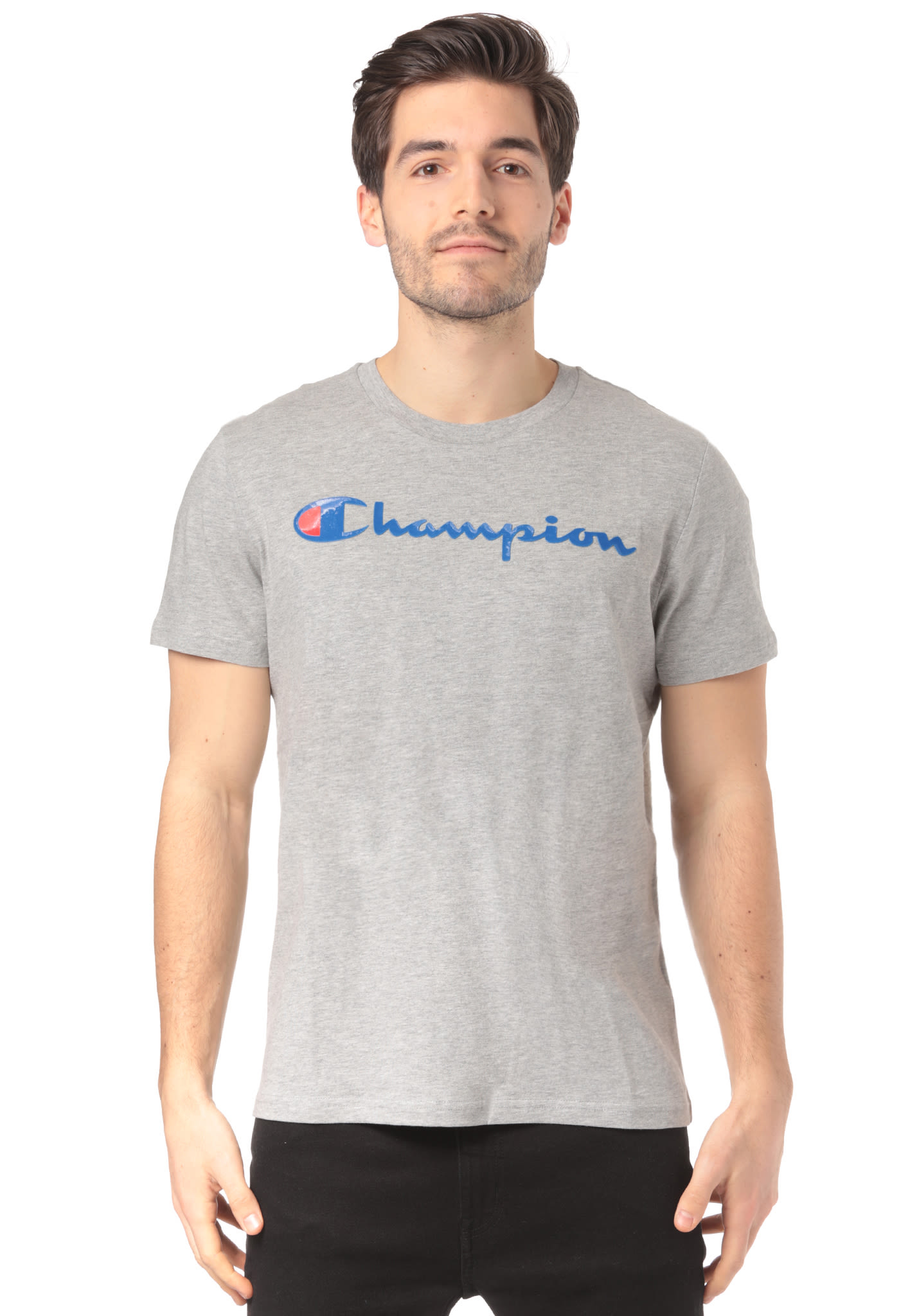 Champion American Classics - T-Shirt for Men - Grey - Planet Sports 9b87c7f1087e