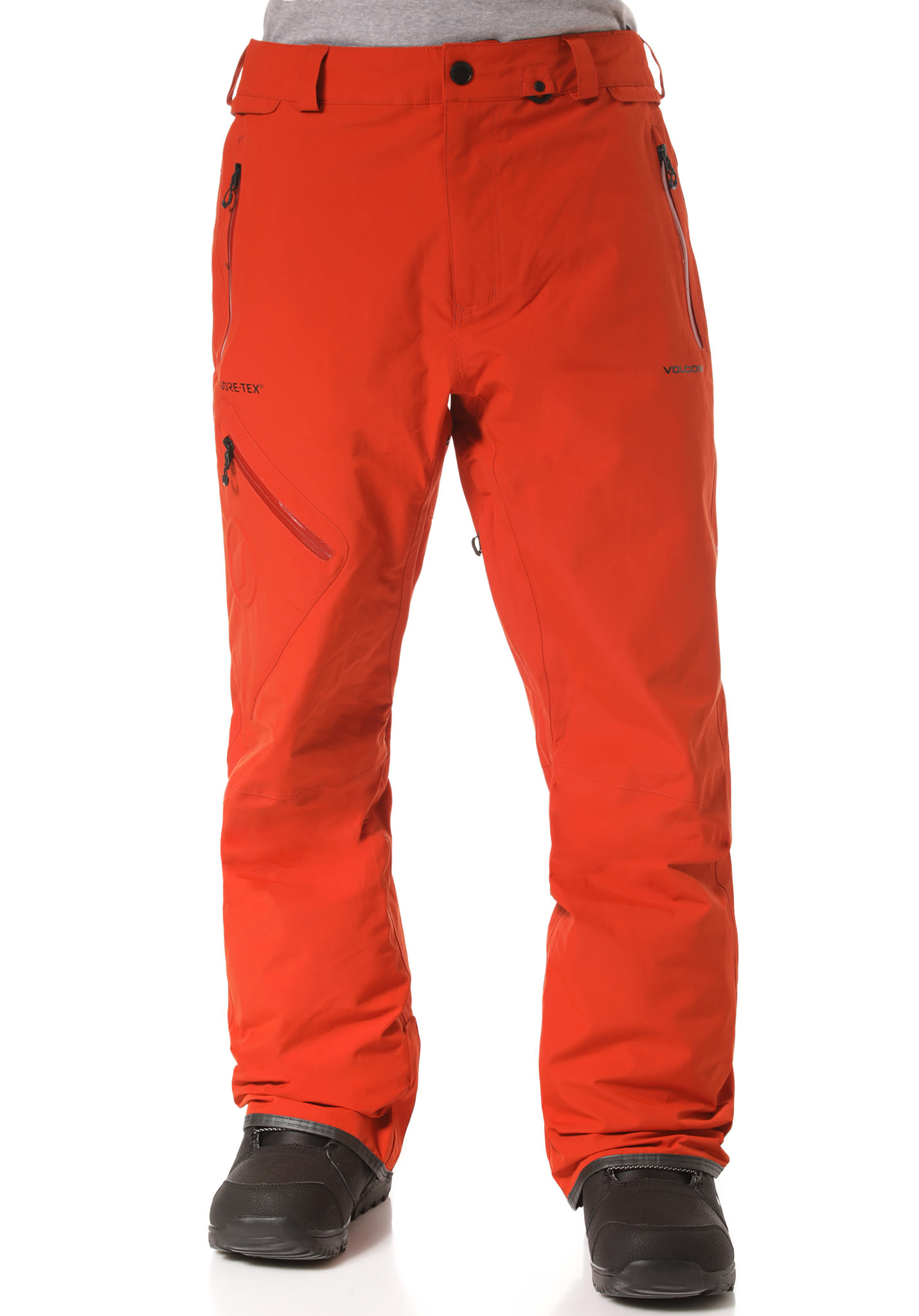 Volcom L Gore-Tex - Snowboard Pants for Men - Red - Planet Sports 8613b3bee64ac