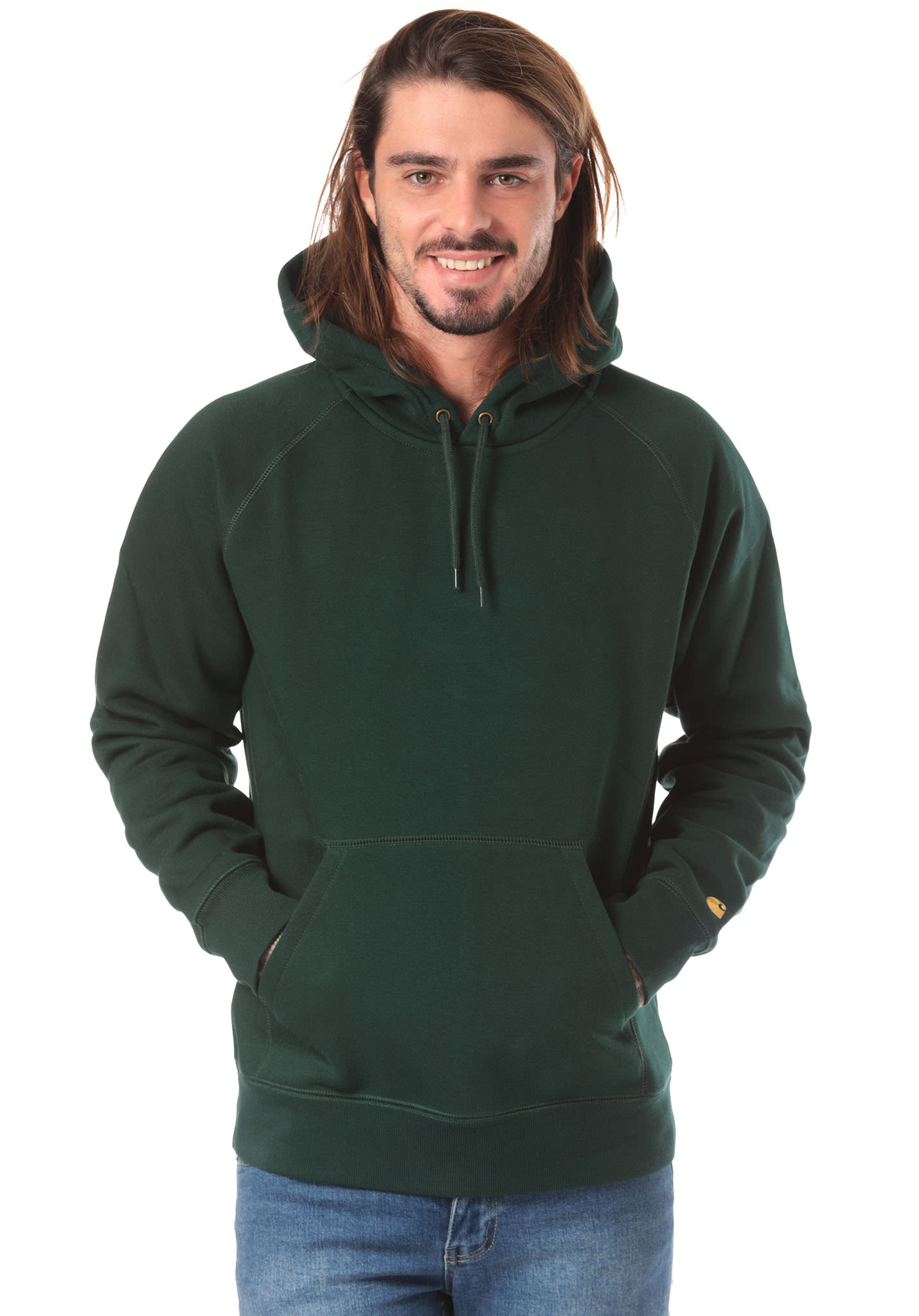 sale uk new arrivals best sale carhartt WIP Chase - Hooded Sweatshirt for Men - Green