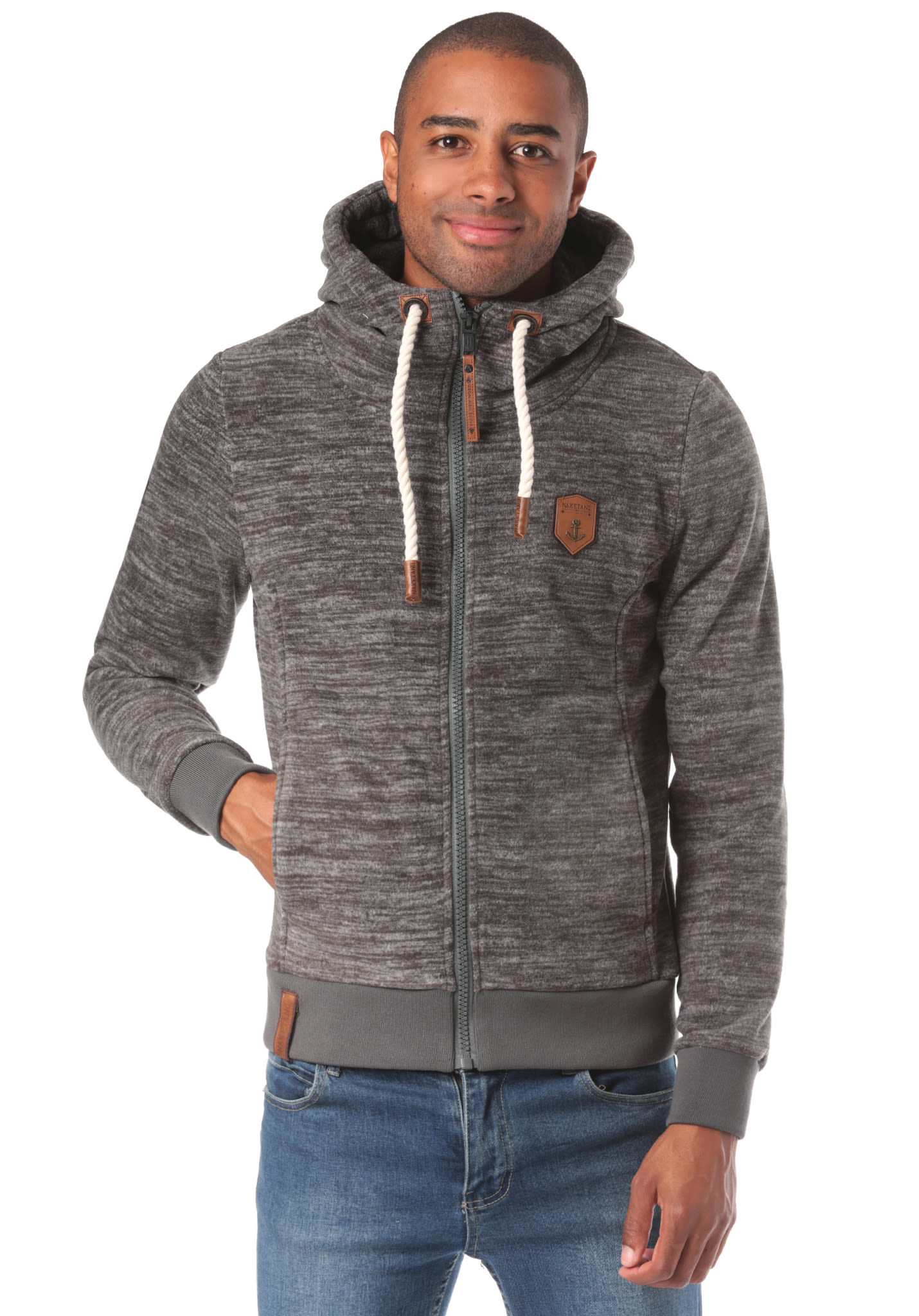 NAKETANO Mach Et Otze Pimped Hooded Jacket for Men Grey