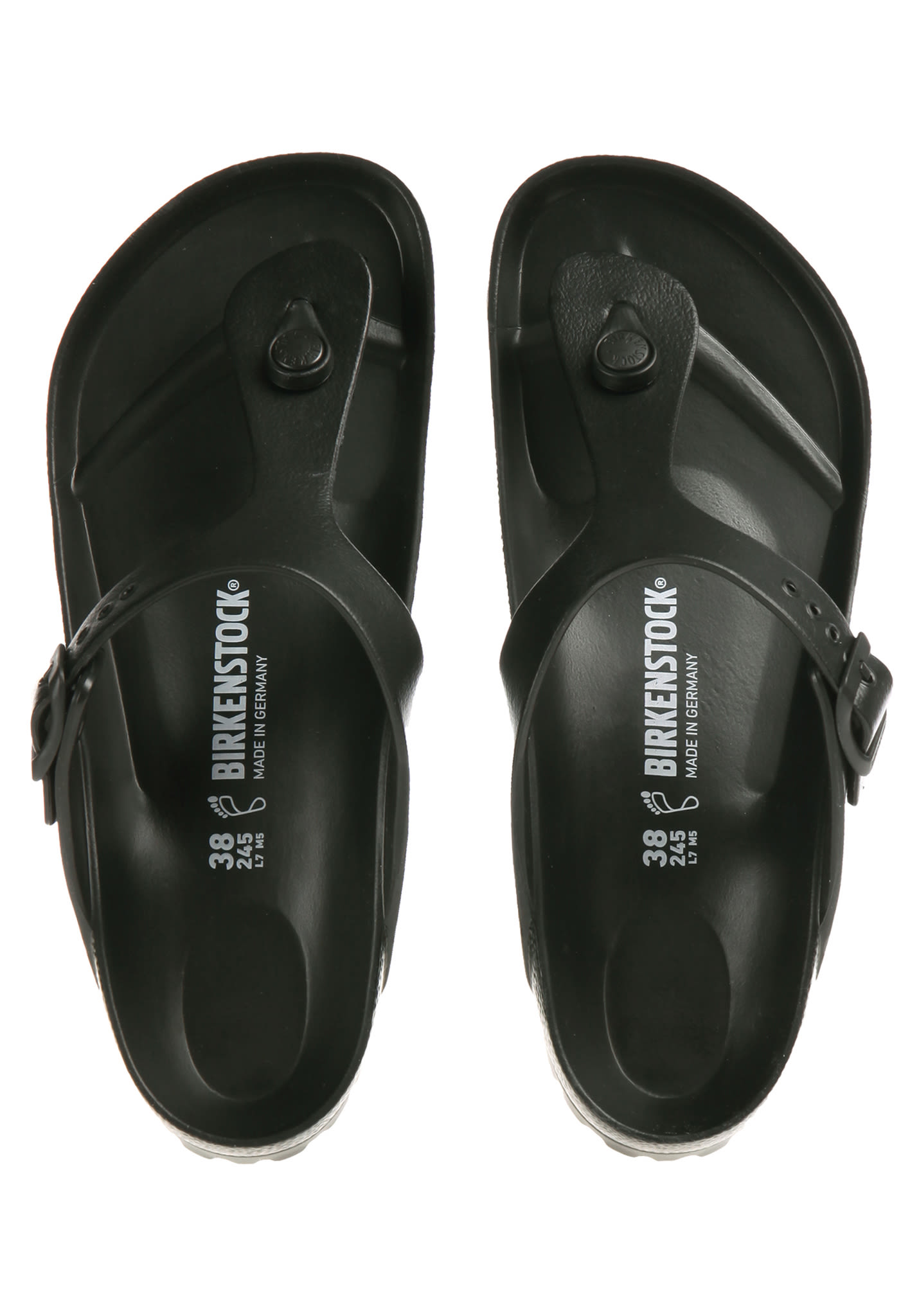 58a11ad42c55 Birkenstock Gizeh EVA - Sandals for Women - Black - Planet Sports