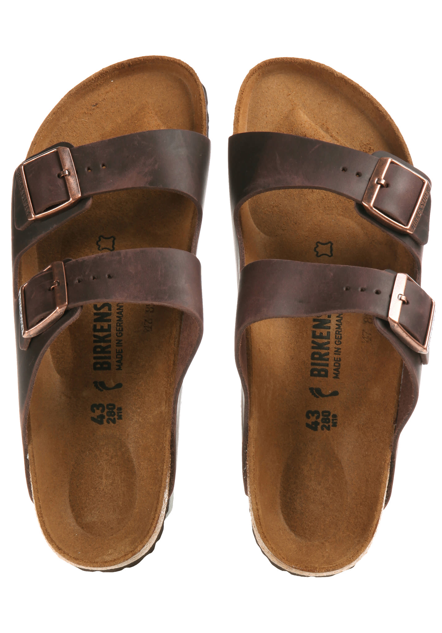 separation shoes 2794b 69736 Birkenstock Arizona FL - Sandalen - Braun
