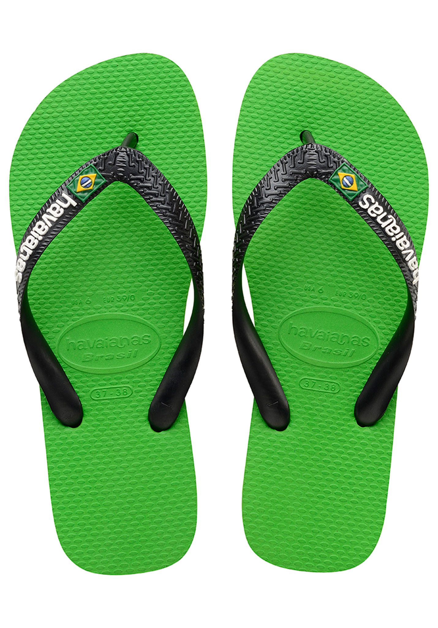 73aa5ad6a1b9d1 HAVAIANAS Brasil Logo - Sandals - Green - Planet Sports
