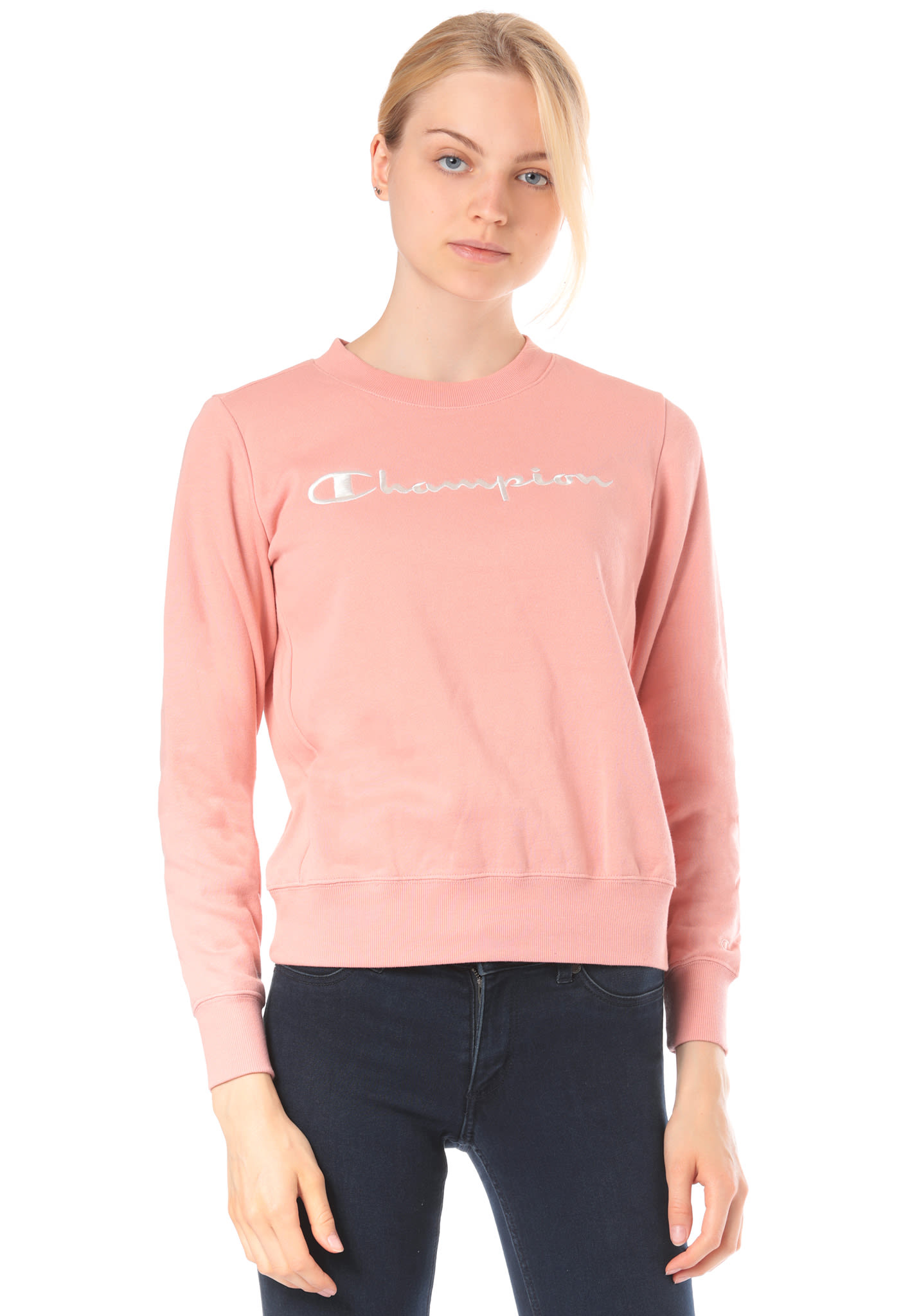 07b70e1a4a Champion Crewneck - Sweatshirt for Women - Pink - Planet Sports