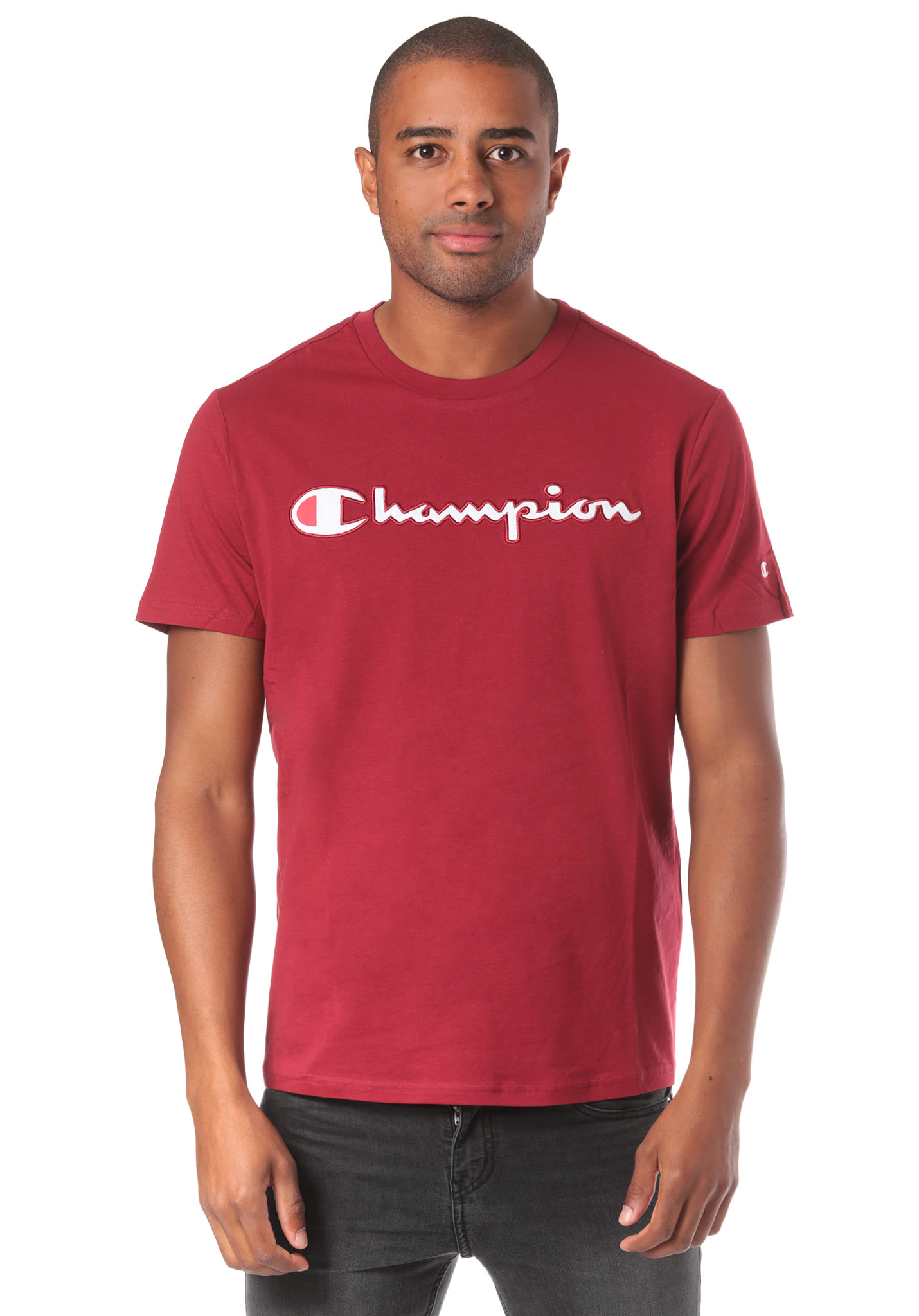 f150154e74fa Champion Crewneck - T-Shirt for Men - Red - Planet Sports