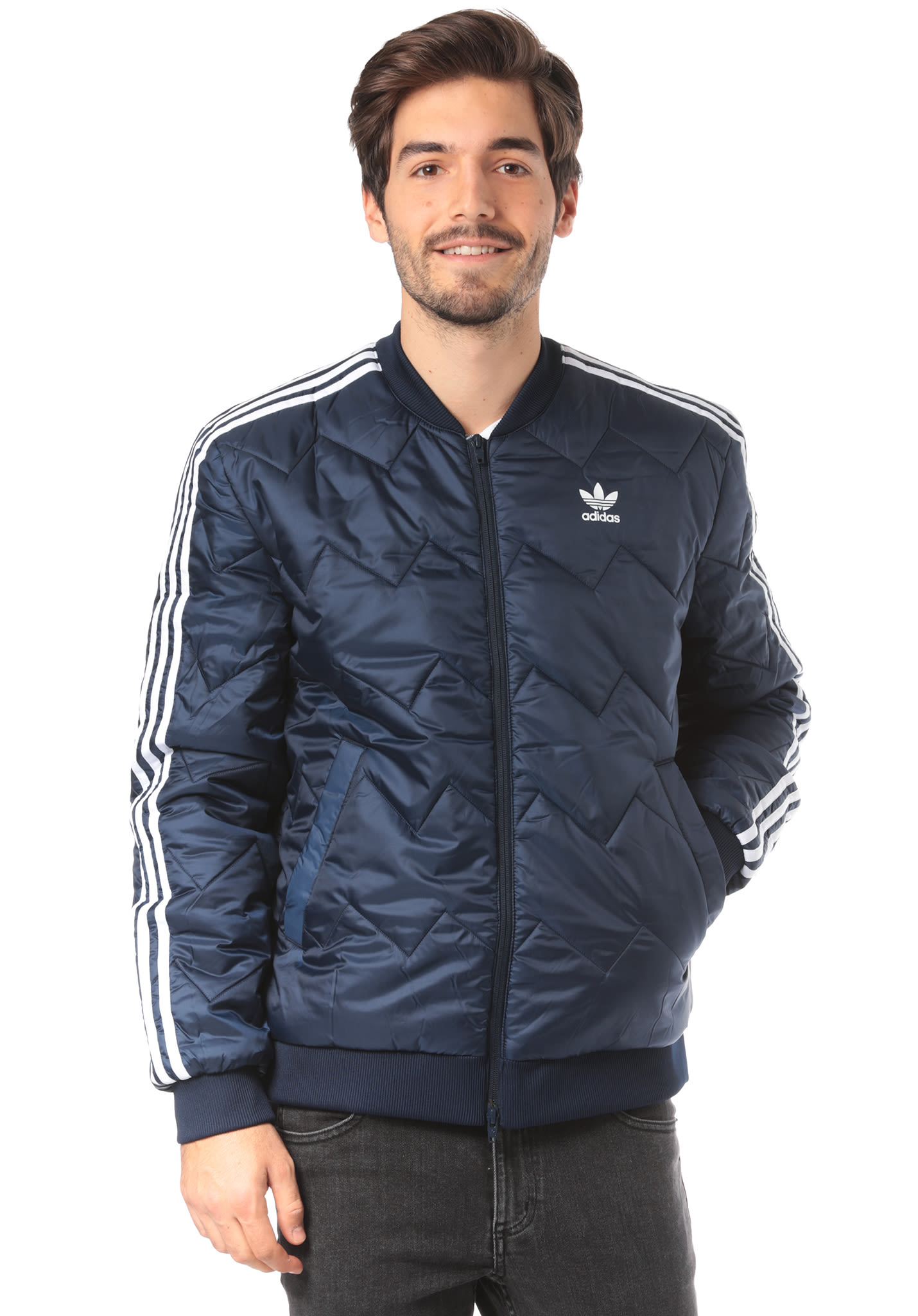 13c9ae7f8 ADIDAS ORIGINALS SST Quilted - Jacket for Men - Blue - Planet Sports
