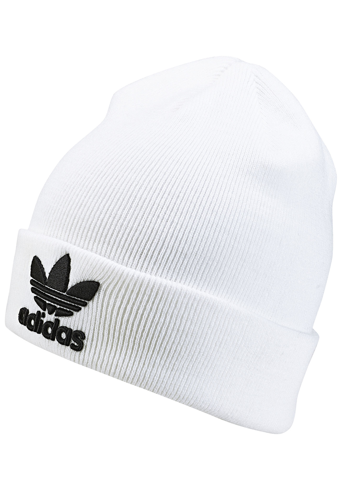 19128e1c0cc18 ADIDAS ORIGINALS Trefoil - Beanie - White - Planet Sports
