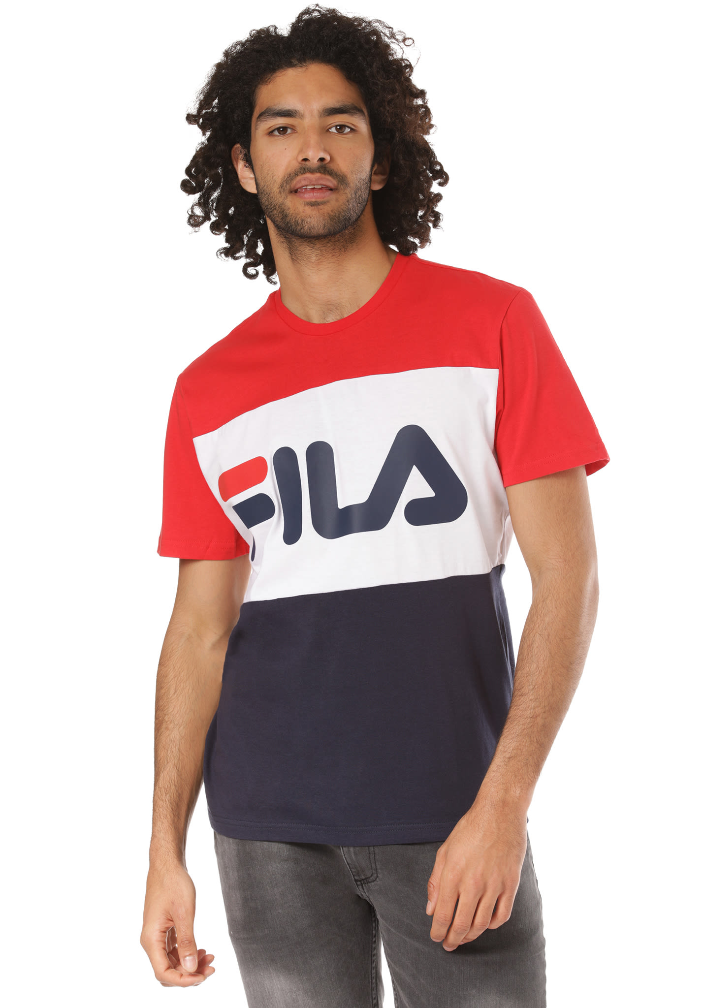 57c45520fbd Fila Urban Line Day - T-shirt voor Heren - Blauw - Planet Sports