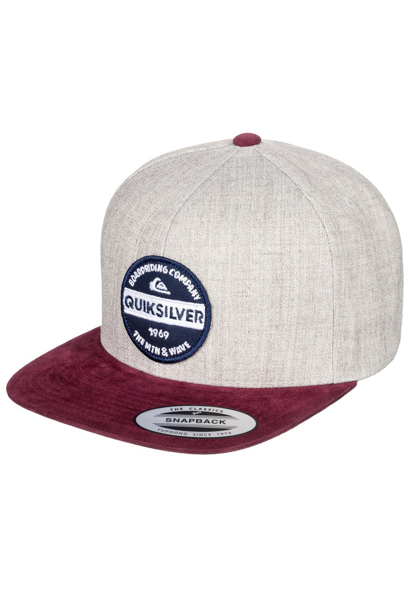aae58a7e0 Quiksilver Firm Chowder - Snapback Cap for Men - Grey
