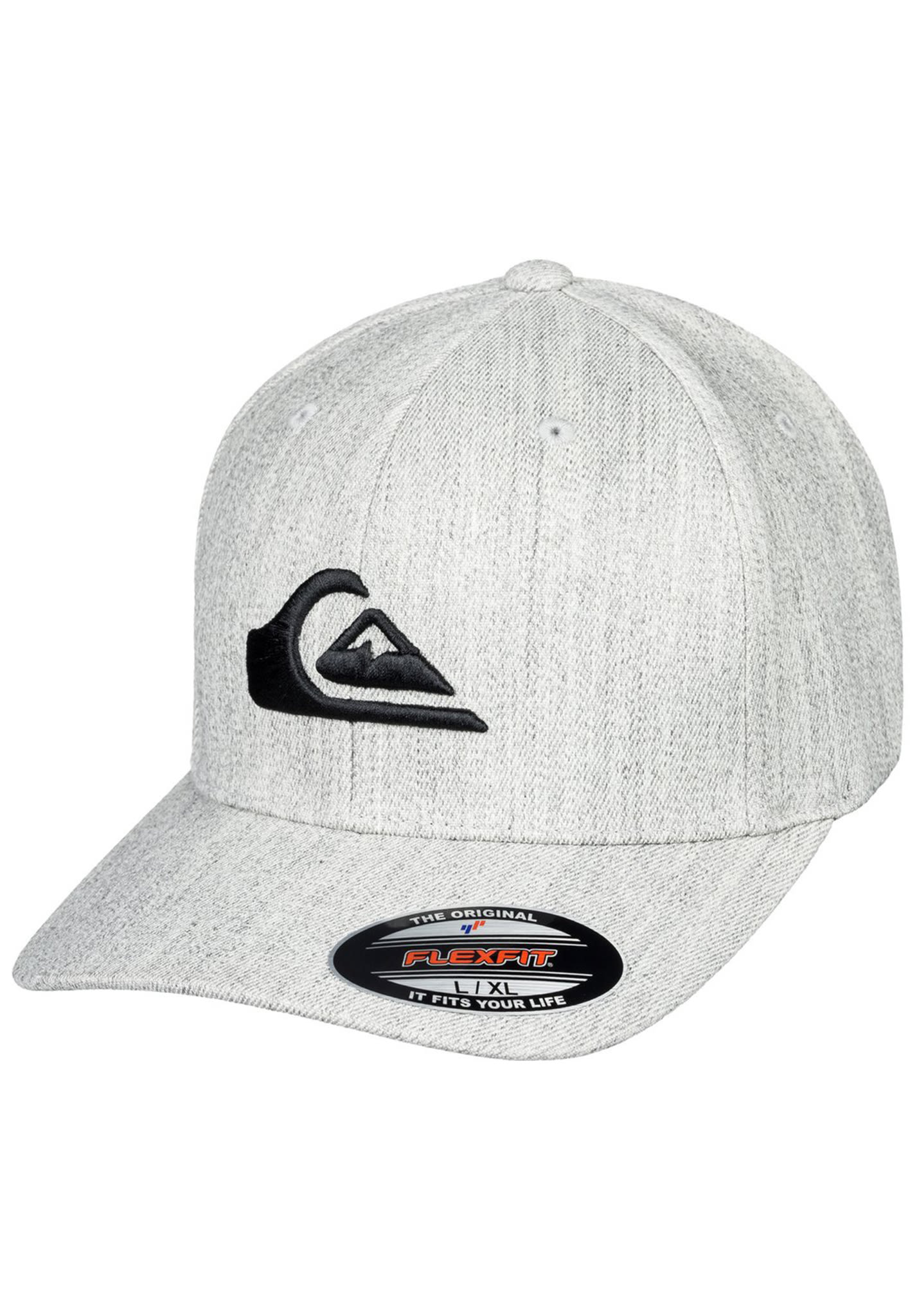 sports shoes 4bc5c 08d60 Quiksilver Mountain And Wave - Flexfit Cap for Men - Grey - Planet Sports