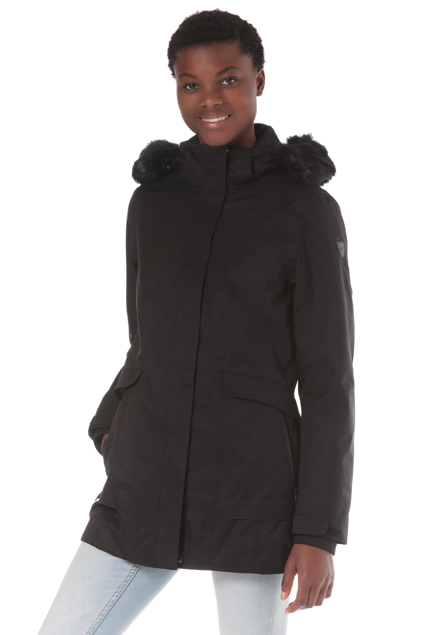 5e6c511da01 CMP Fix Hood - Chaqueta de outdoor para Mujeres - Negro - Planet Sports