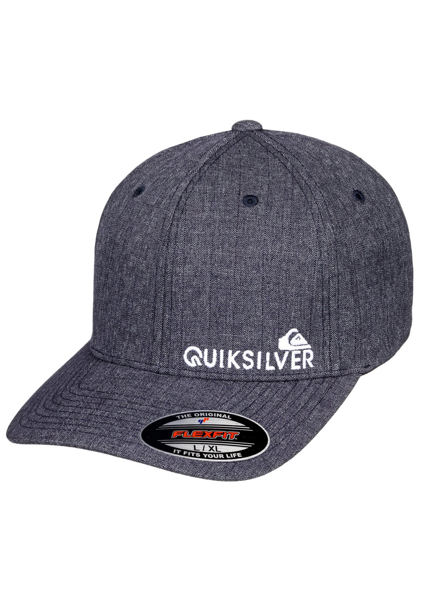check out 04a61 0ea1a Quiksilver Sidestay - Flexfit Cap for Men - Blue - Planet Sports