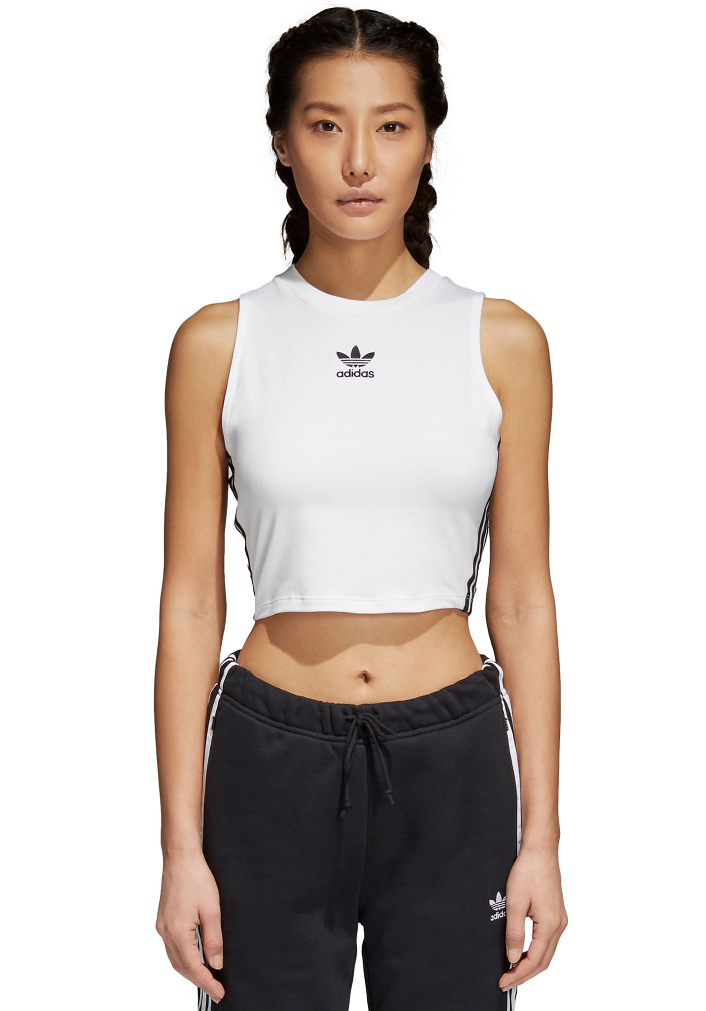 478843f120f6 ADIDAS ORIGINALS Crop - Top for Women - White - Planet Sports