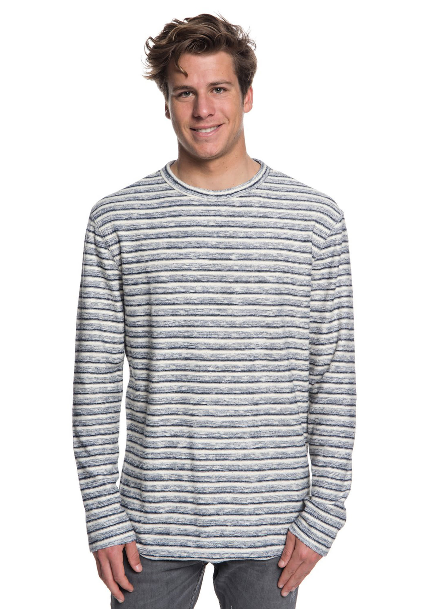 ace59d133a34 Quiksilver Harajuku Split - Long-sleeved Shirt for Men - Blue - Planet  Sports