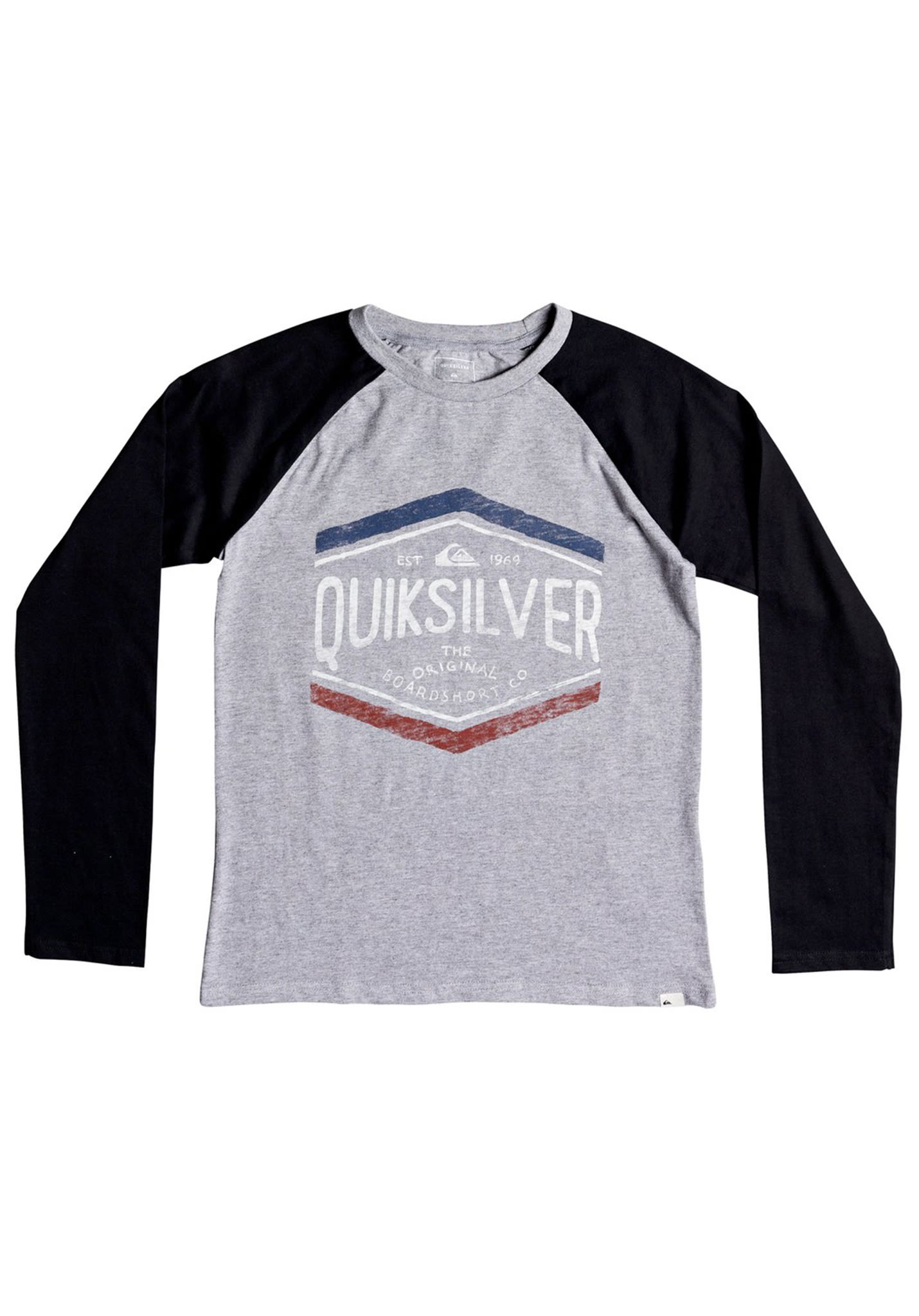 d9dcfd047398 Quiksilver Sketch Memb - Long-sleeved Shirt for Kids Boys - Grey - Planet  Sports