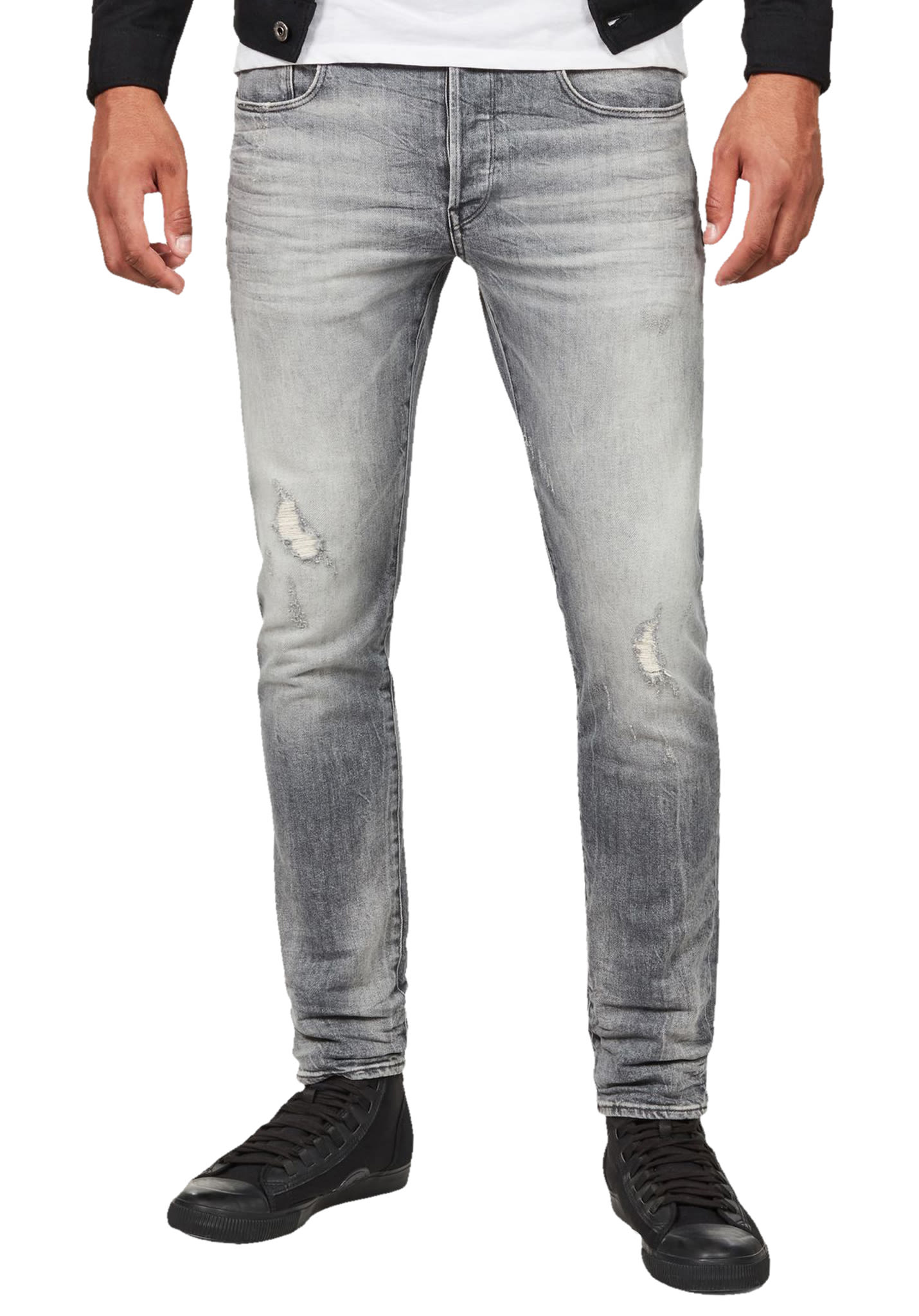 35bb44d65db5be G-STAR 3301 Slim - Denim Jeans for Men - Grey - Planet Sports