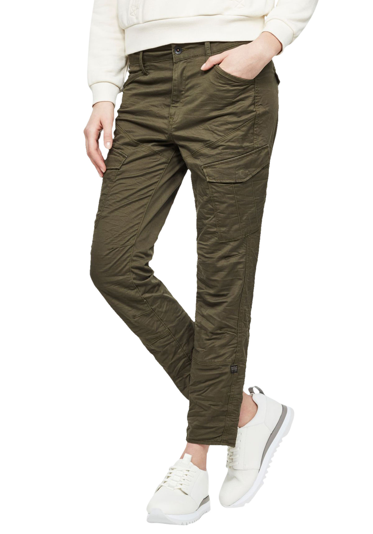 b64ee5b4a9 G-STAR Rovic Mid Skinny - Cargo Pants for Women - Green - Planet Sports