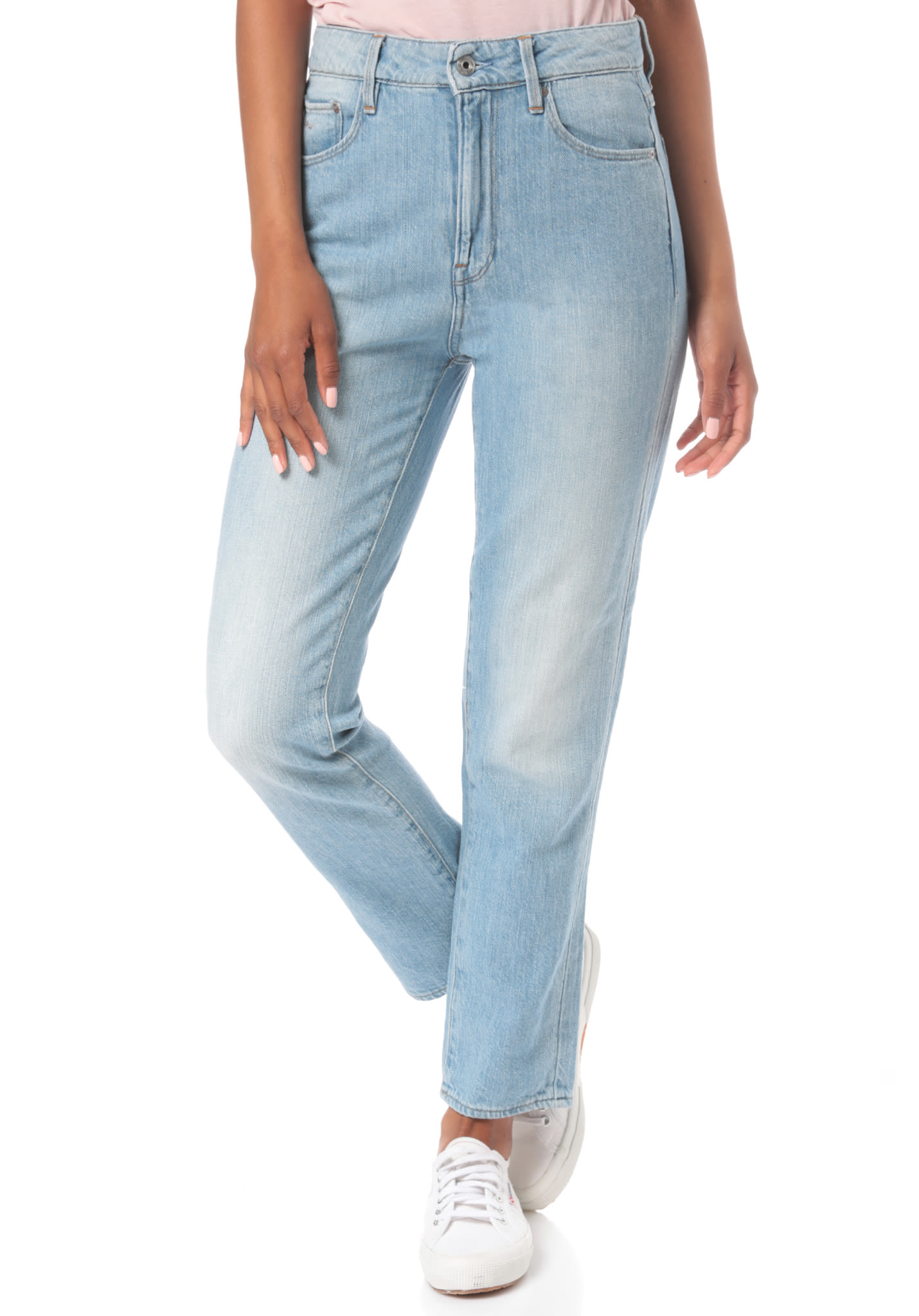 2a64d9724 G-STAR 3301 High Straight 90 S Ankle - Denim Jeans for Women - Blue -  Planet Sports