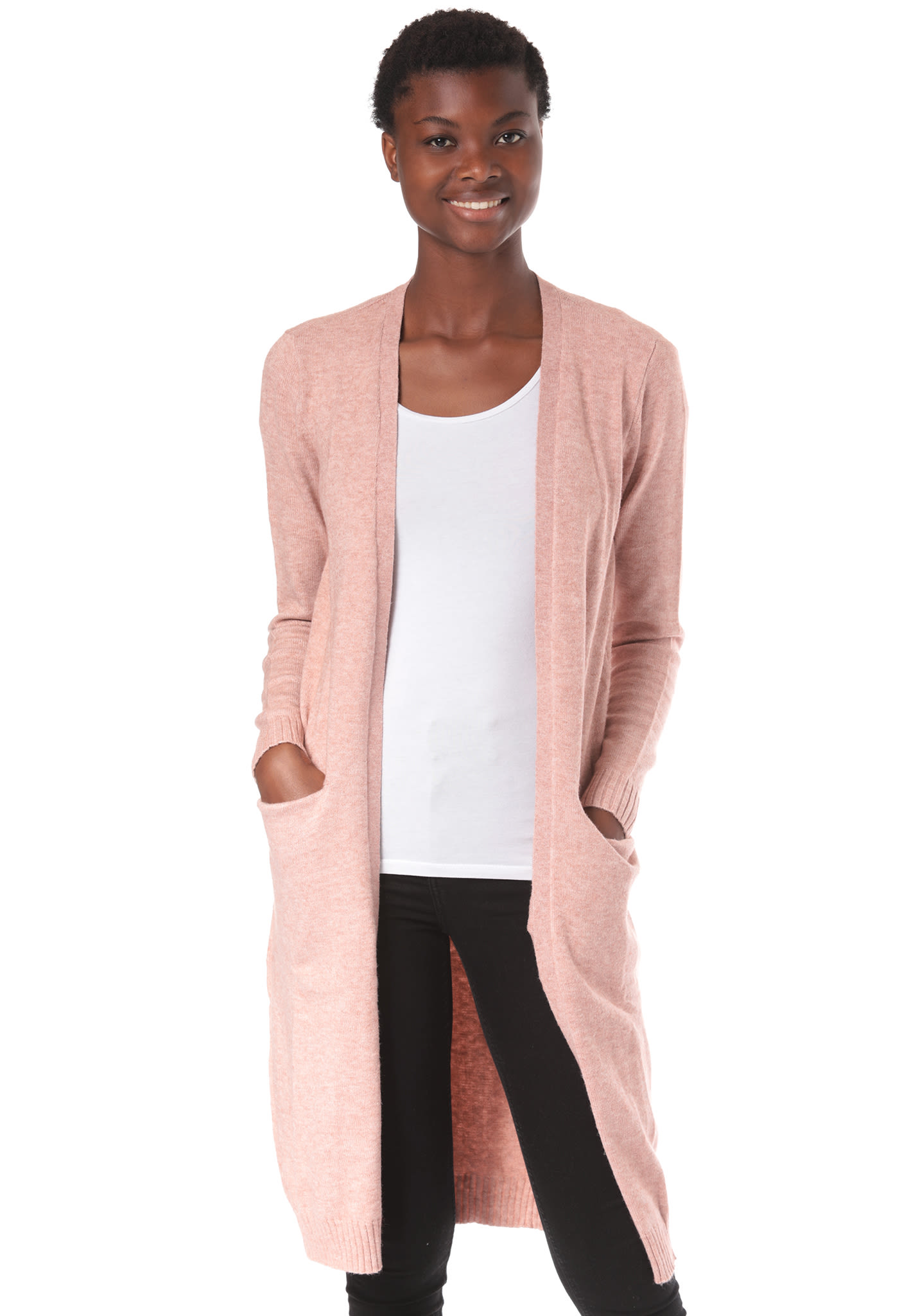 best service b83ba cad36 Vila Viril L/S Long - Cardigan for Women - Pink