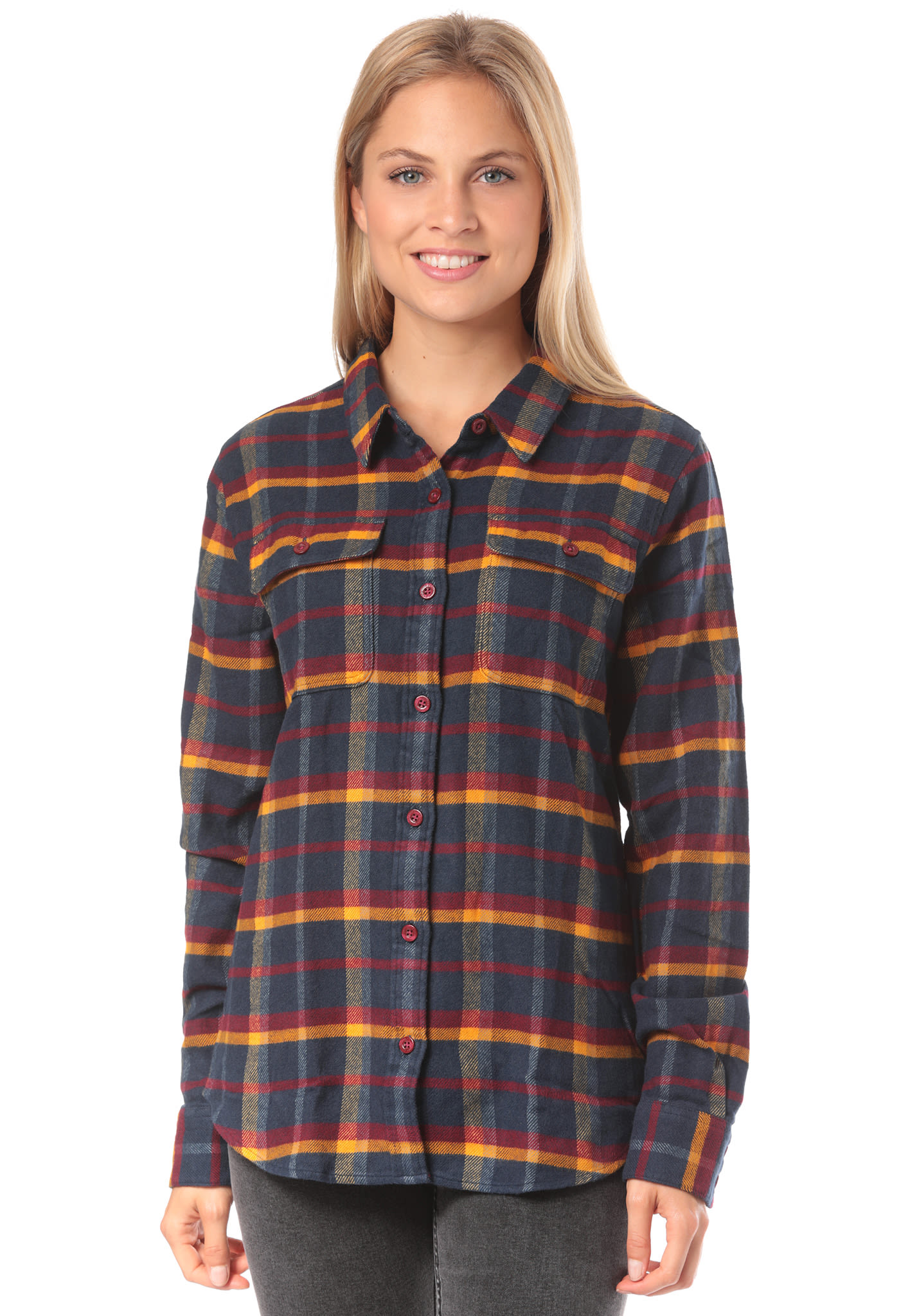 fa537a20 PATAGONIA L/S Fjord Flannel - Shirt for Women - Plaid - Planet Sports