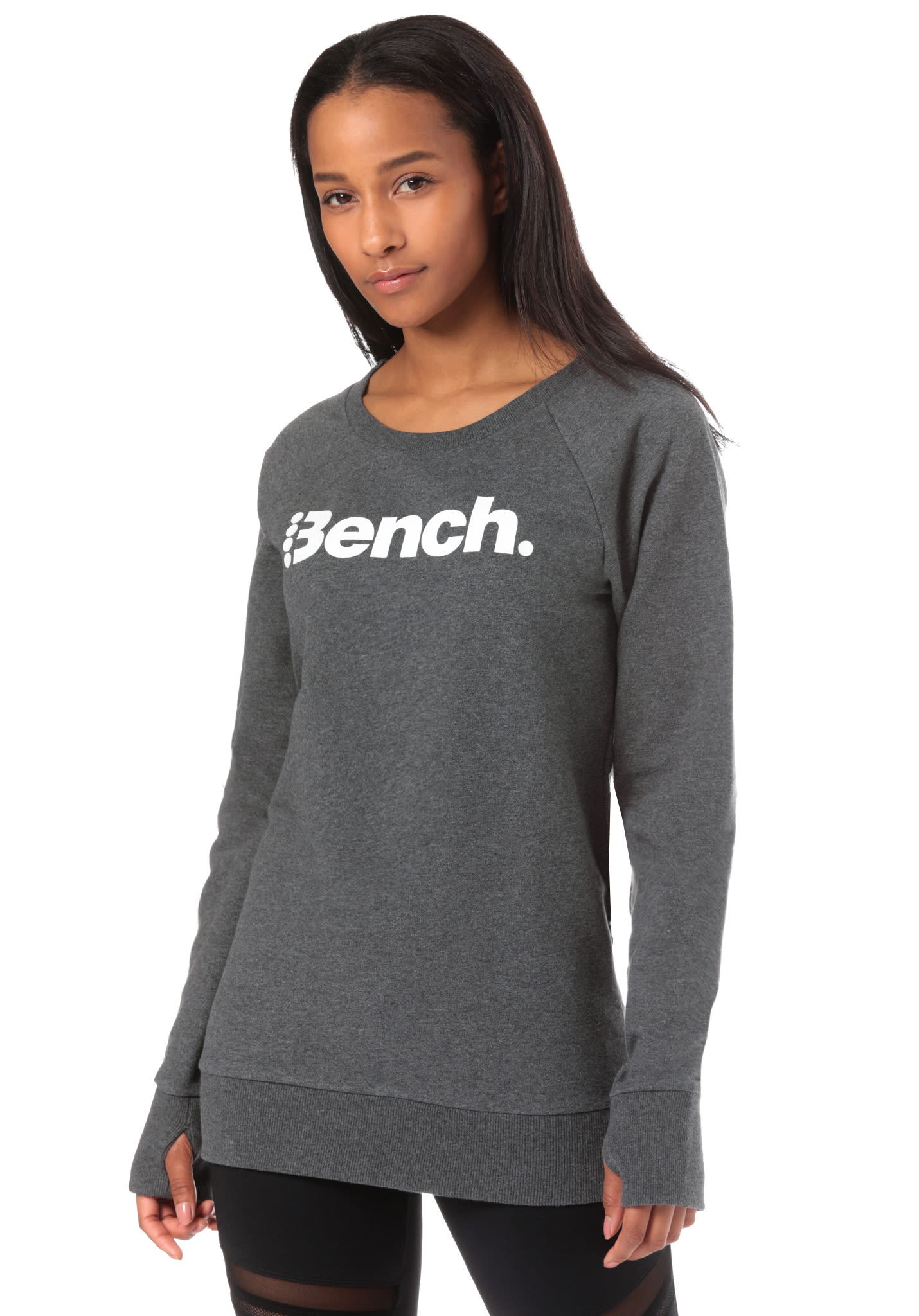 30b0585df BENCH Heritage Long Logo Crew Neck - Sweatshirt for Women - Black