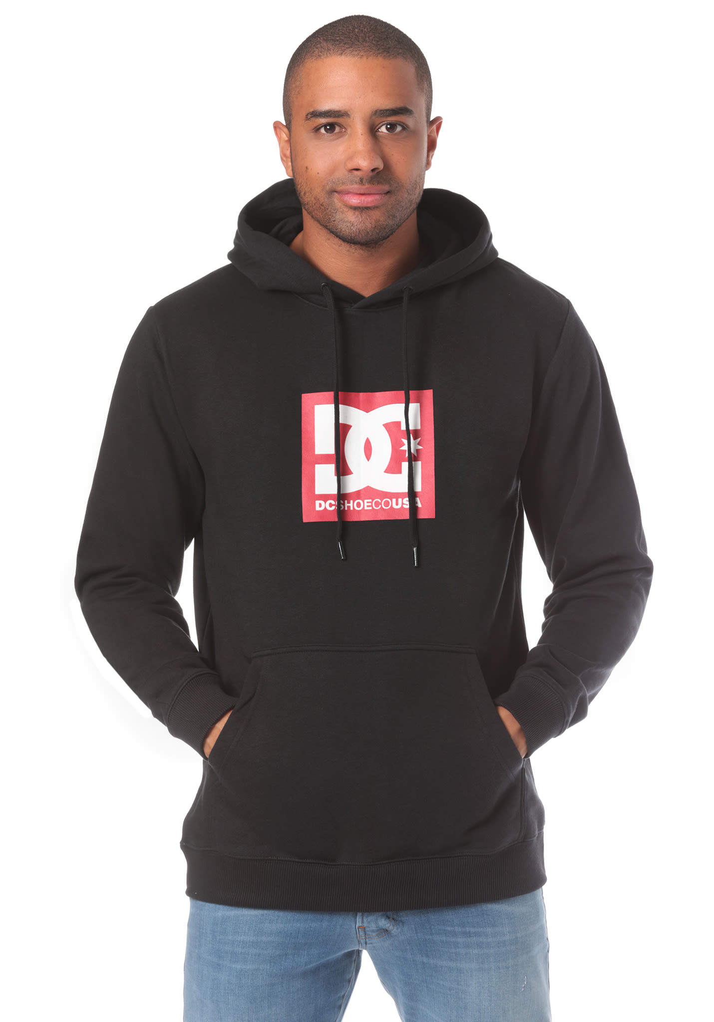 9aec065bff05 DC Square Star - Hooded Sweatshirt for Men - Black - Planet Sports