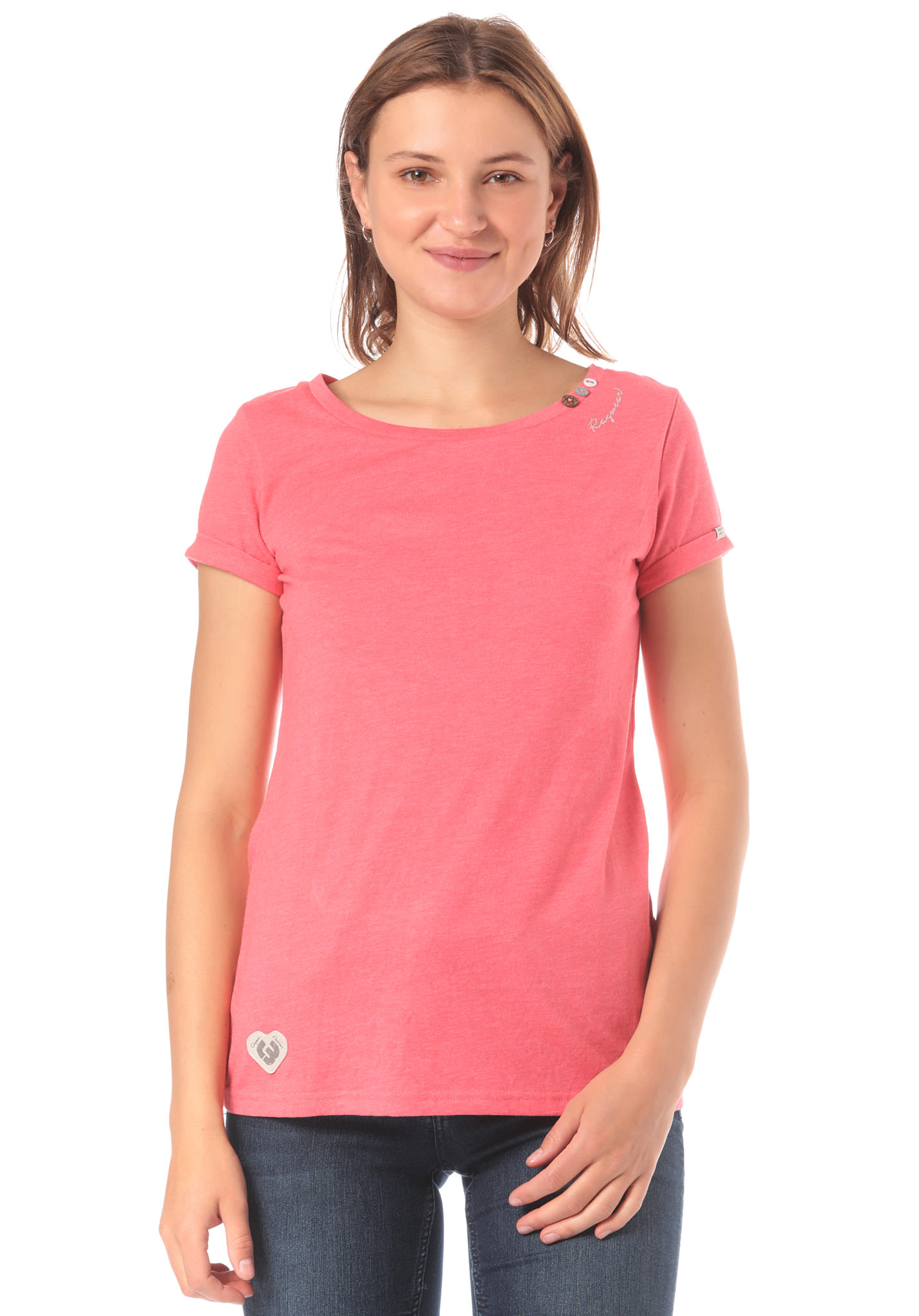 2c9baa3e0281 ragwear Florah Organic - T-Shirt for Women - Pink - Planet Sports