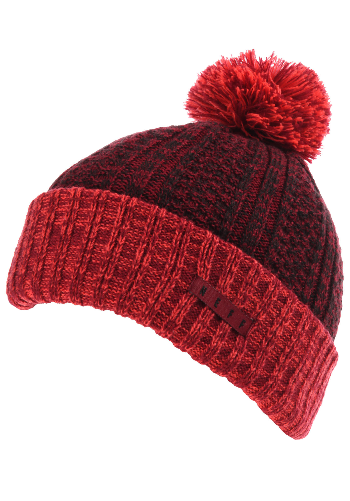 NEFF Impervious Pom - Beanie - Red - Planet Sports 58c0b5c0e72