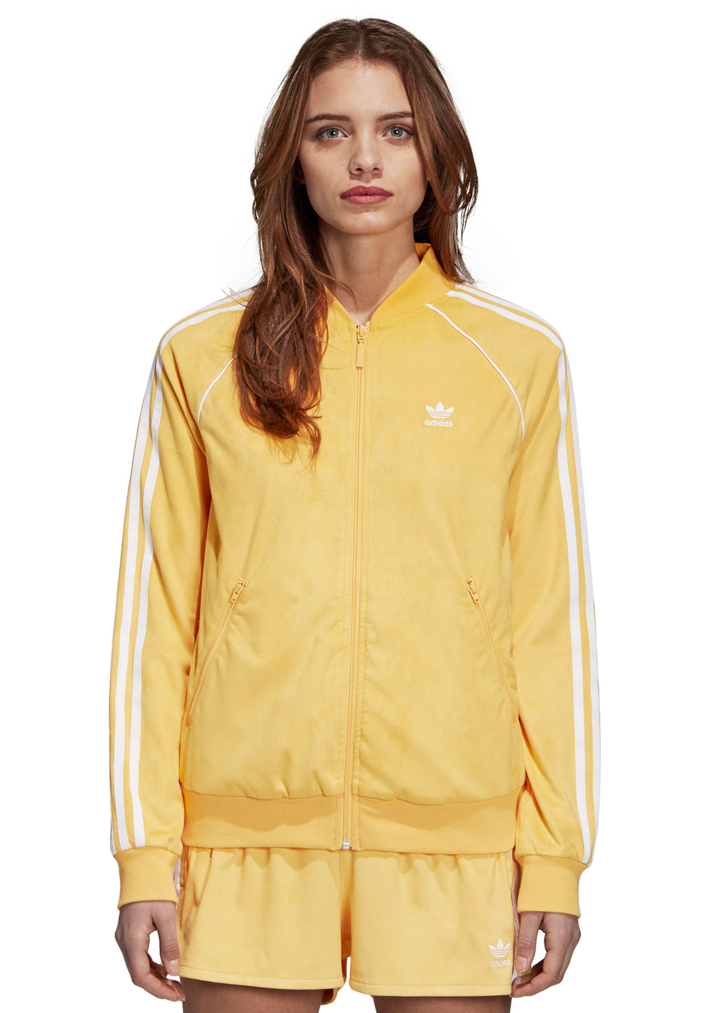 Veste survetement adidas jaune
