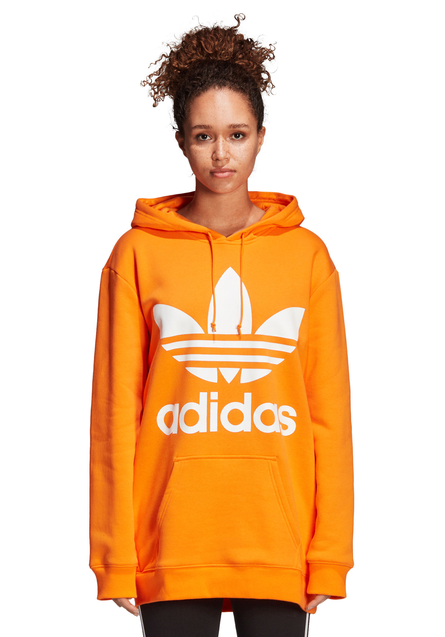 ADIDAS ORIGINALS Bf Trefoil - Hooded Sweatshirt for Women - Orange - Planet  Sports 8e4e71b5e6364