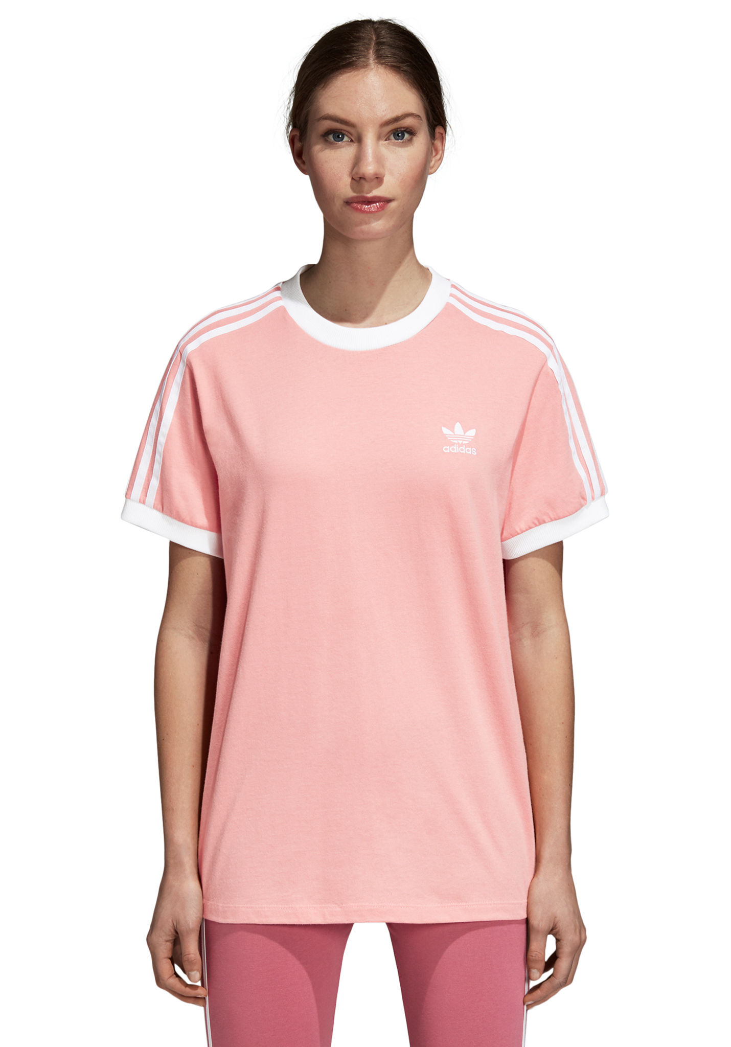 ADIDAS ORIGINALS 3 Stripes - T-Shirt per Donna - Rosa