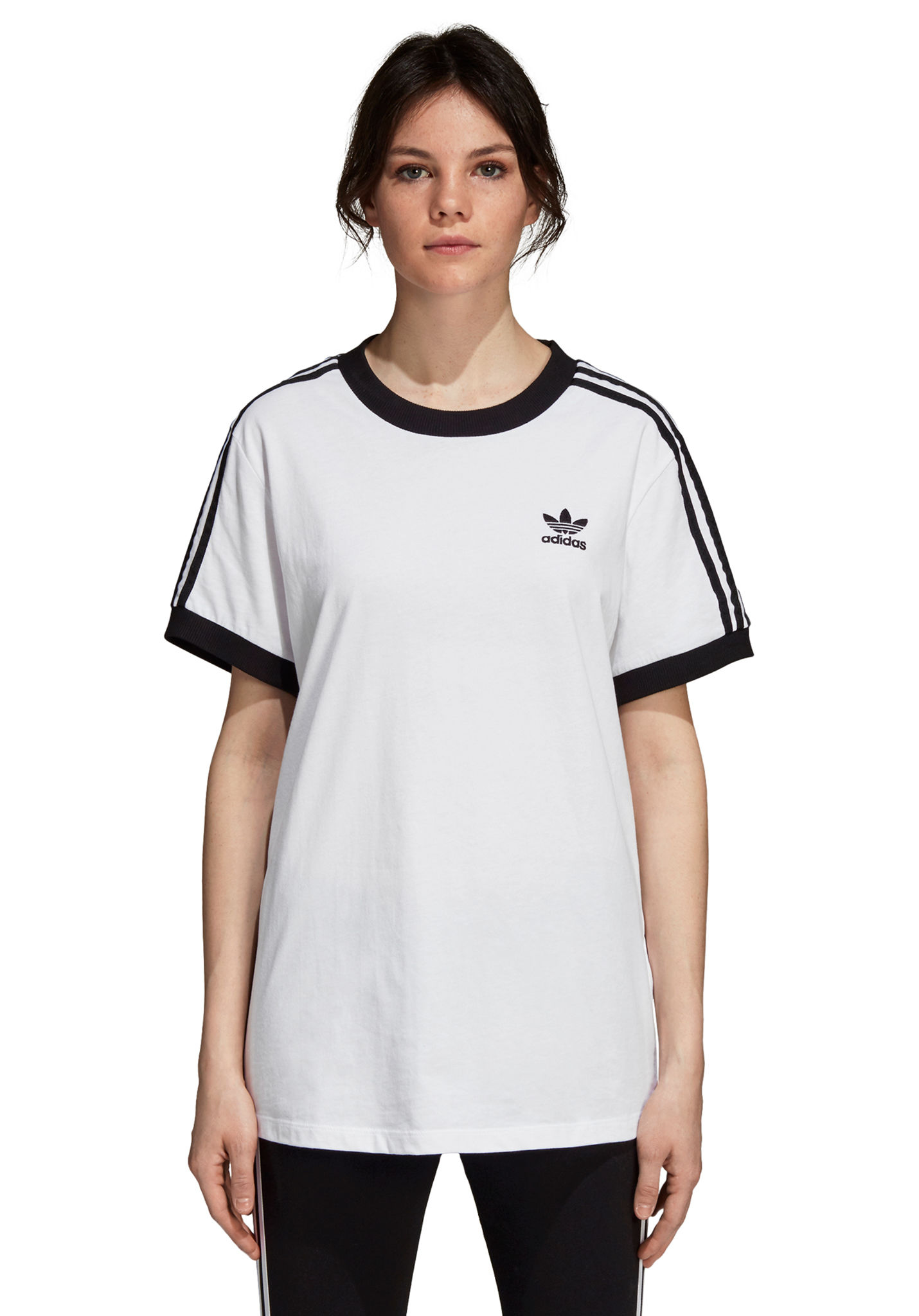 cfbab7192d8be5 ADIDAS ORIGINALS 3 Stripes - T-Shirt for Women - White - Planet Sports