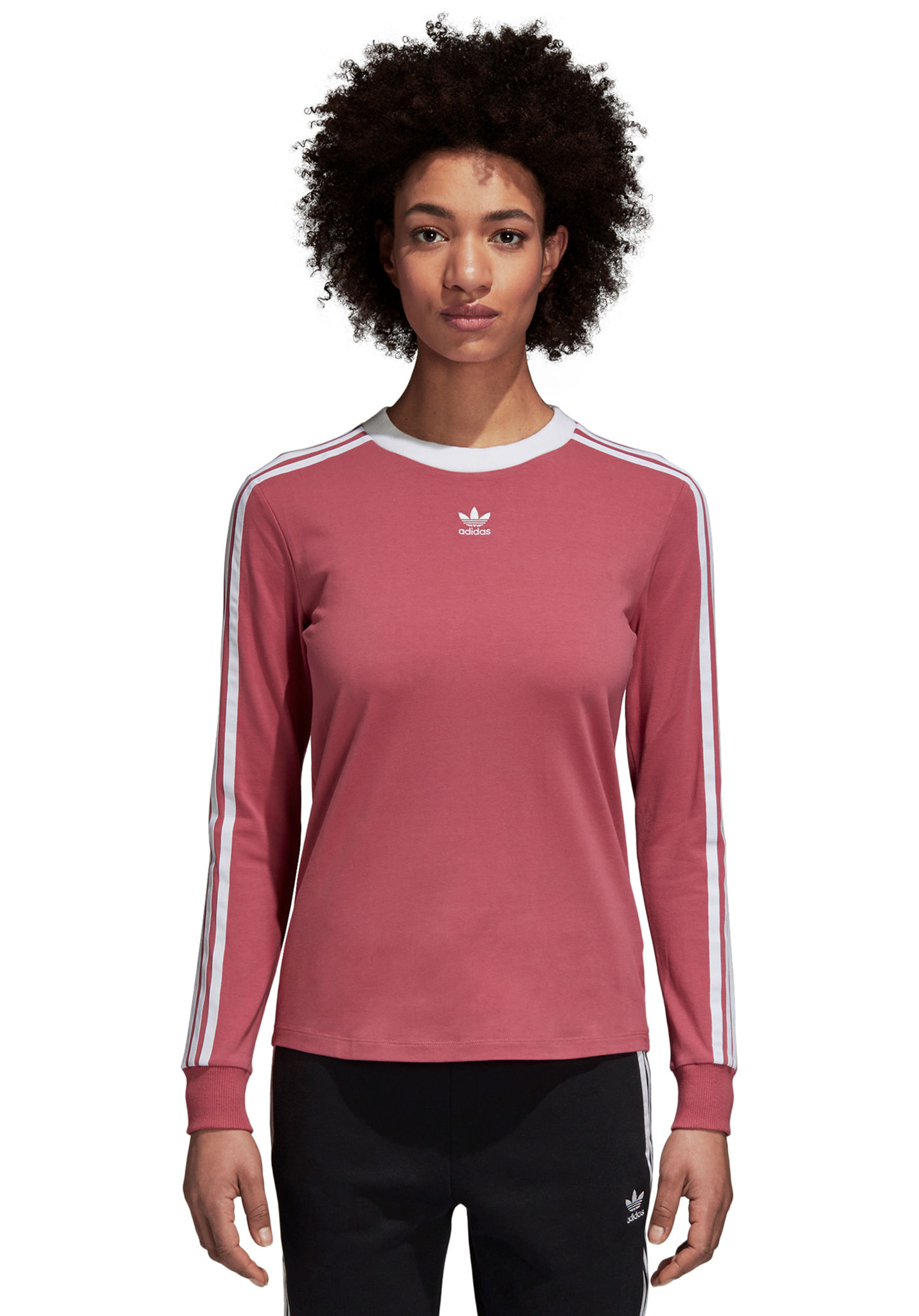 incredible prices uk store new release ADIDAS ORIGINALS 3 Stripes - T-shirt à manches longues pour Femme - Rouge
