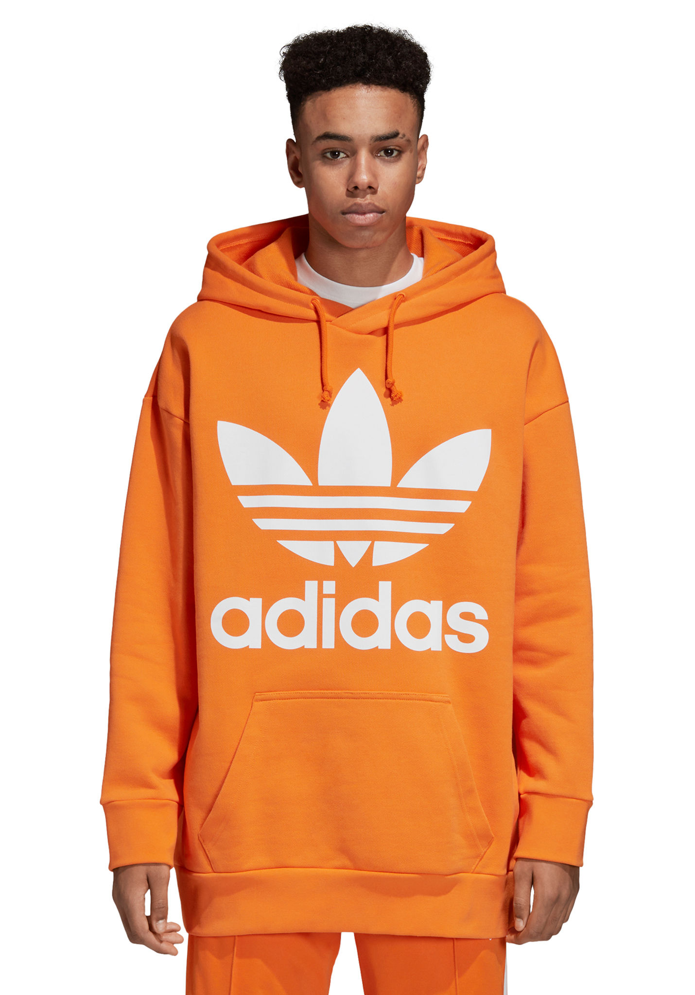 c6158705cfe9 ADIDAS ORIGINALS Trefoil Over - Hooded Sweatshirt for Men - Orange - Planet  Sports