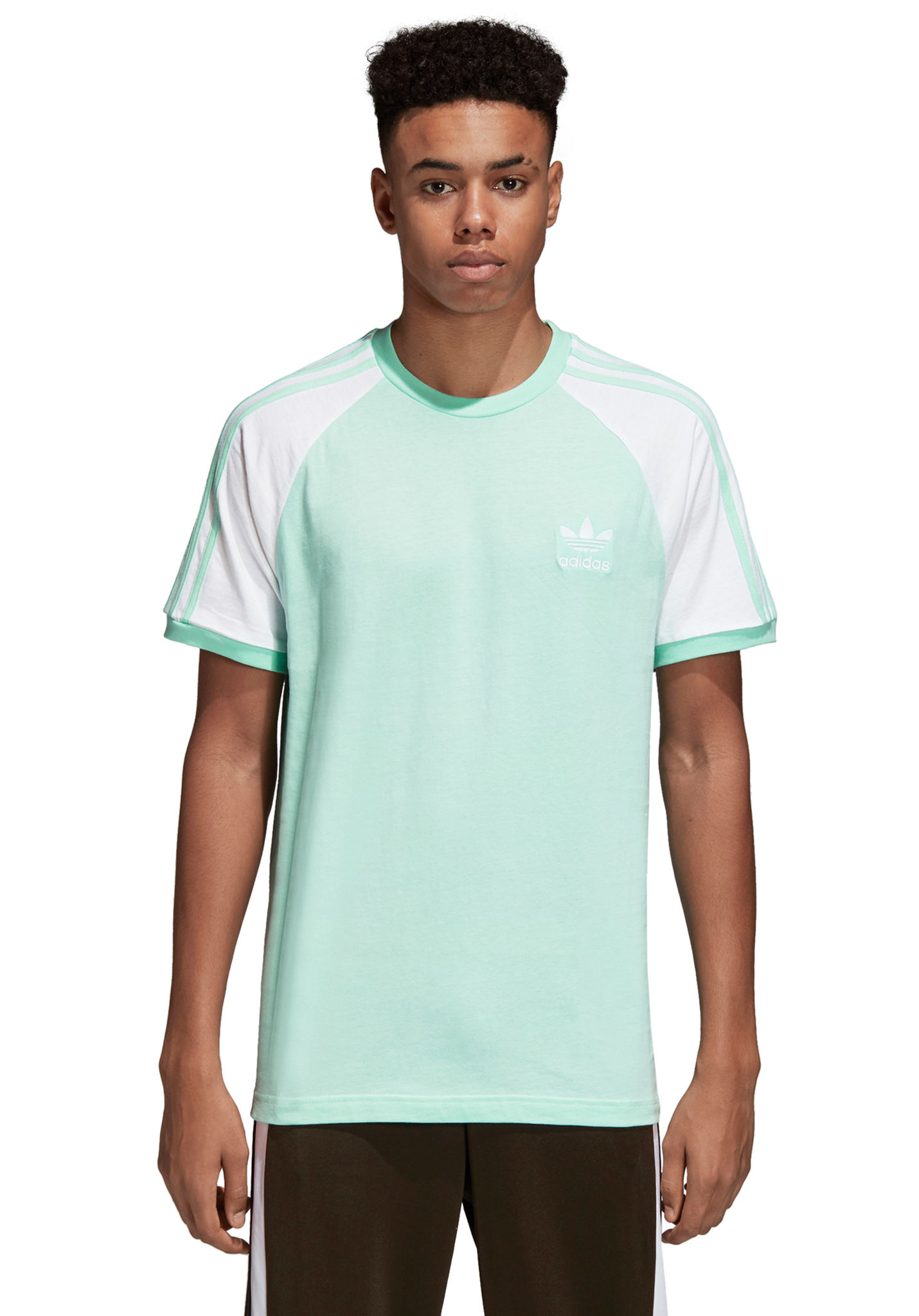 ADIDAS ORIGINALS 3-Stripes - T-shirt voor Heren - Groen