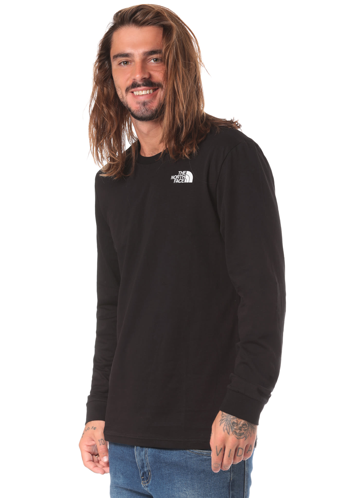 e21cb8013eb THE NORTH FACE Simple Dome - Long-sleeved Shirt for Men - Black - Planet  Sports